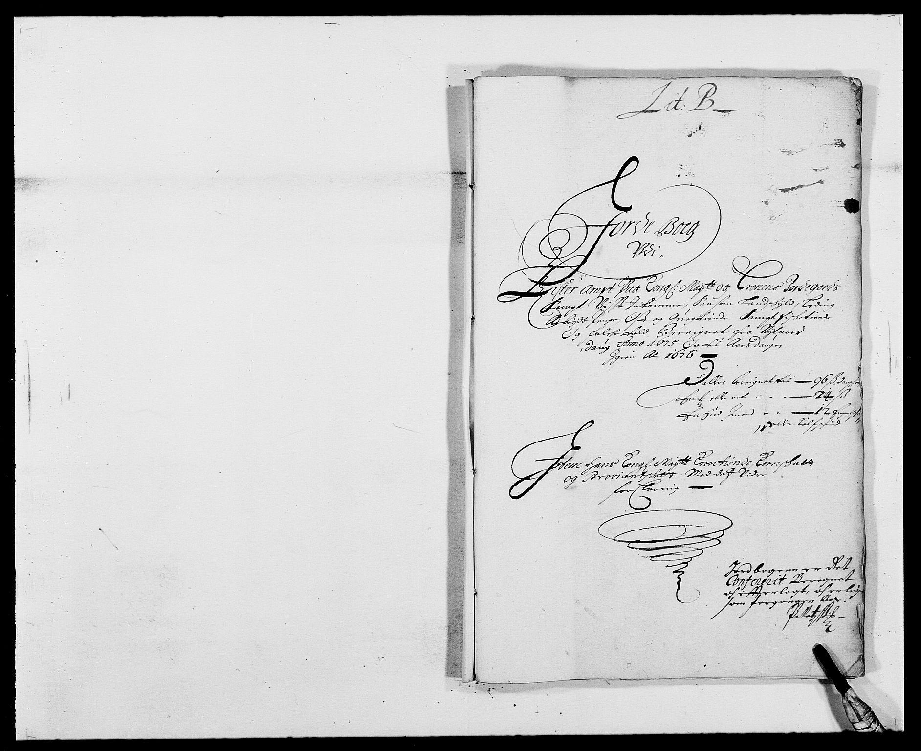 RA, Rentekammeret inntil 1814, Reviderte regnskaper, Fogderegnskap, R41/L2529: Fogderegnskap Lista, 1675-1676, s. 8