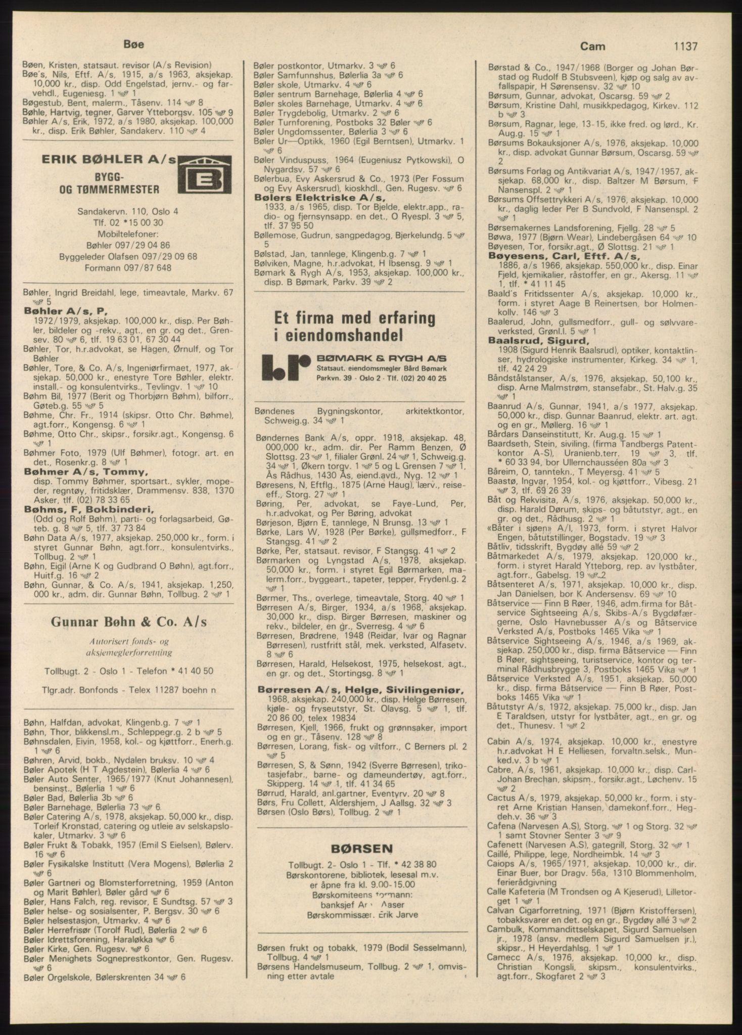 PUBL, Kristiania/Oslo adressebok, 1980-1981, s. 1137