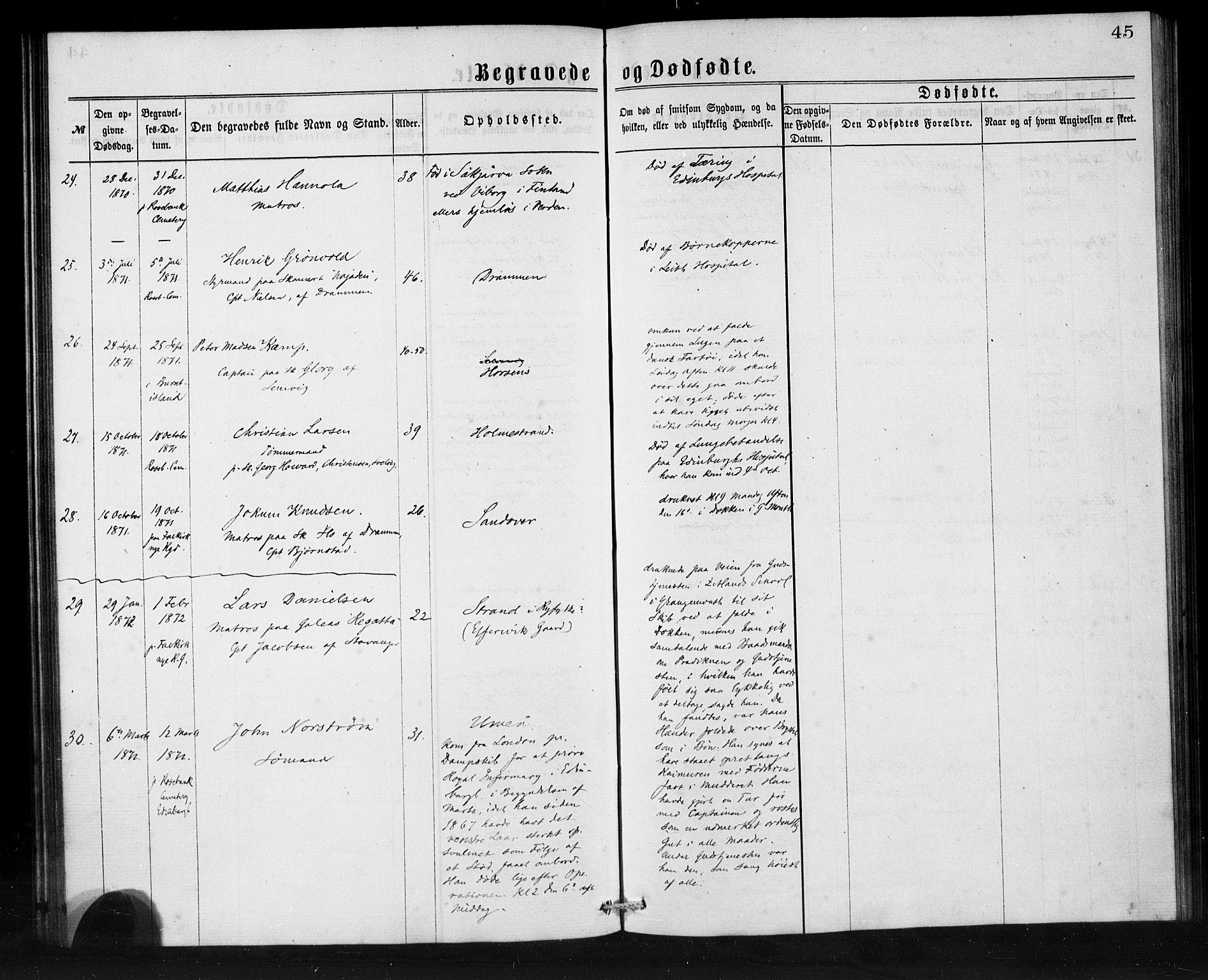 SAB, Den Norske Sjømannsmisjon i utlandet*, Ministerialbok nr. A 1, 1865-1880, s. 45
