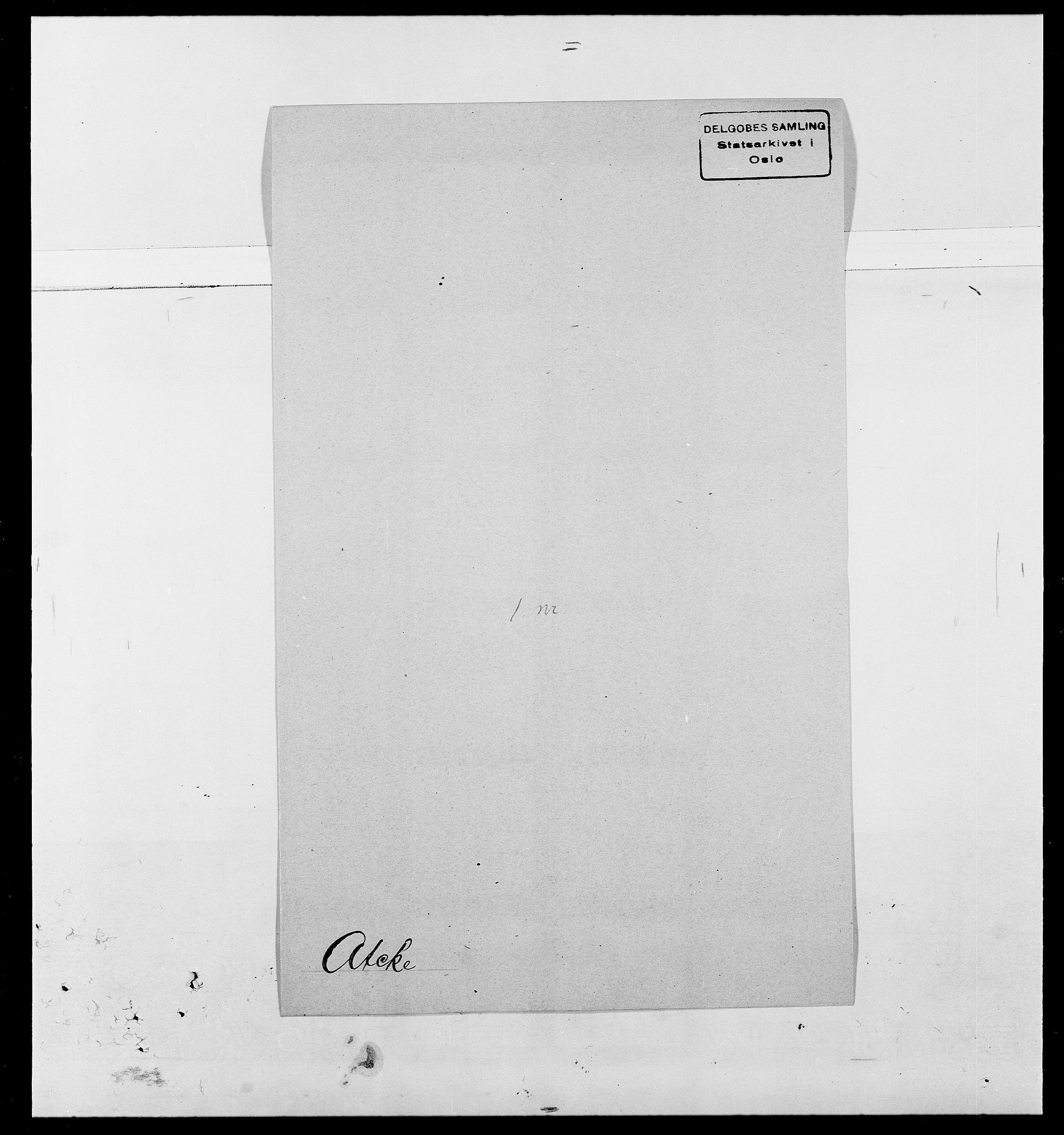 SAO, Delgobe, Charles Antoine - samling, D/Da/L0002: Anker, Ancher - Bauner, s. 491