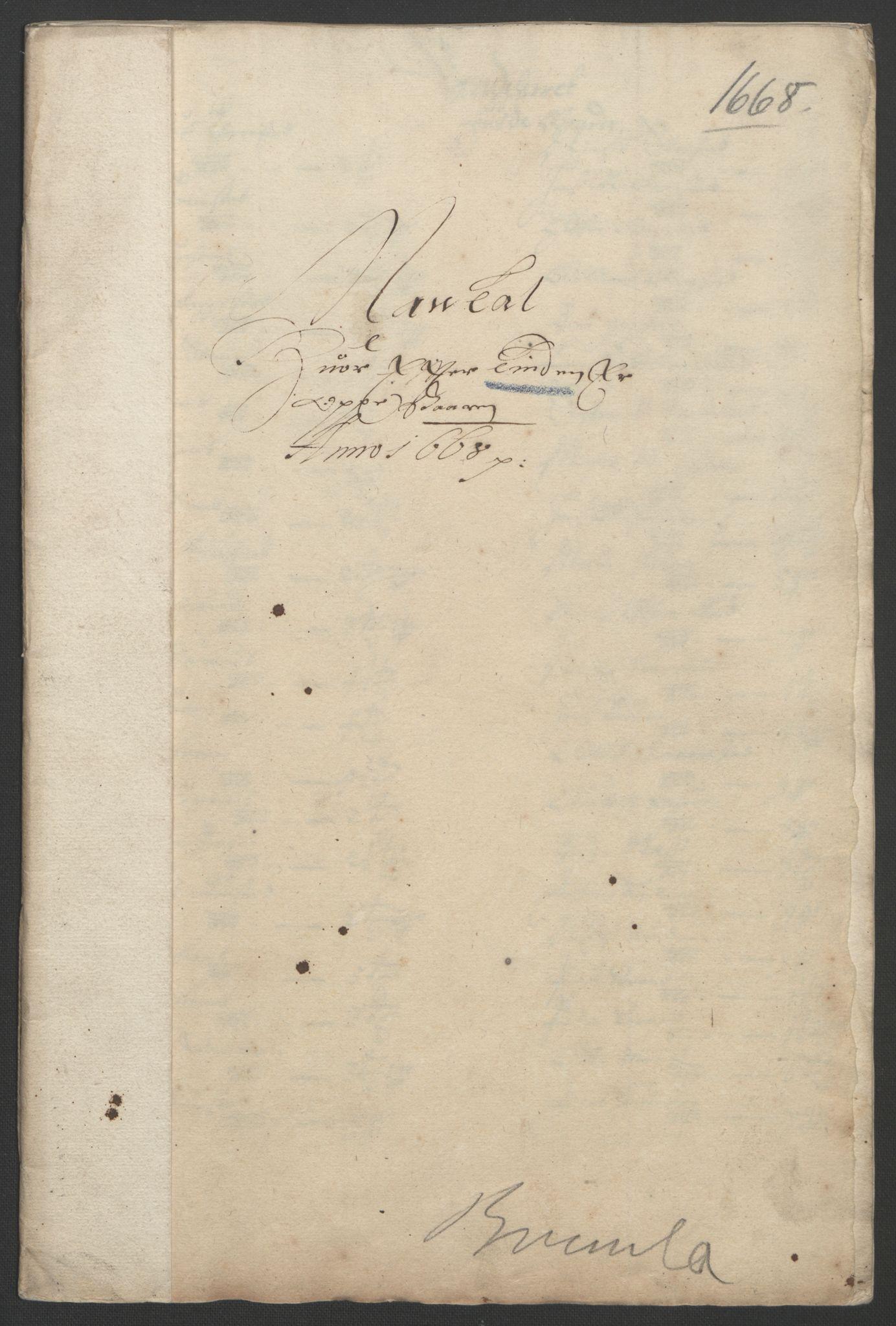 RA, Rentekammeret inntil 1814, Reviderte regnskaper, Fogderegnskap, R33/L1964: Fogderegnskap Larvik grevskap, 1665-1668, s. 212