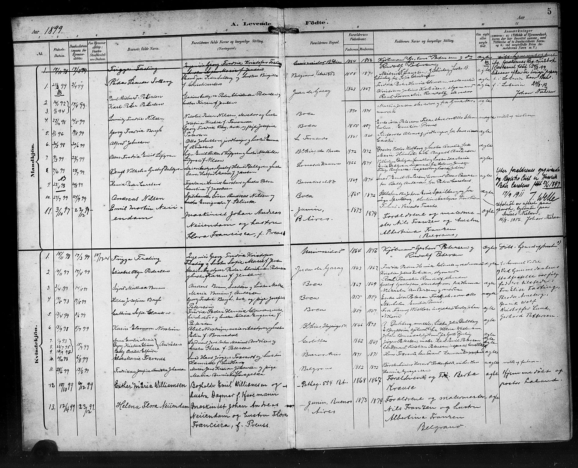 SAB, Den Norske Sjømannsmisjon i utlandet*, Ministerialbok nr. A 2, 1899-1919, s. 5