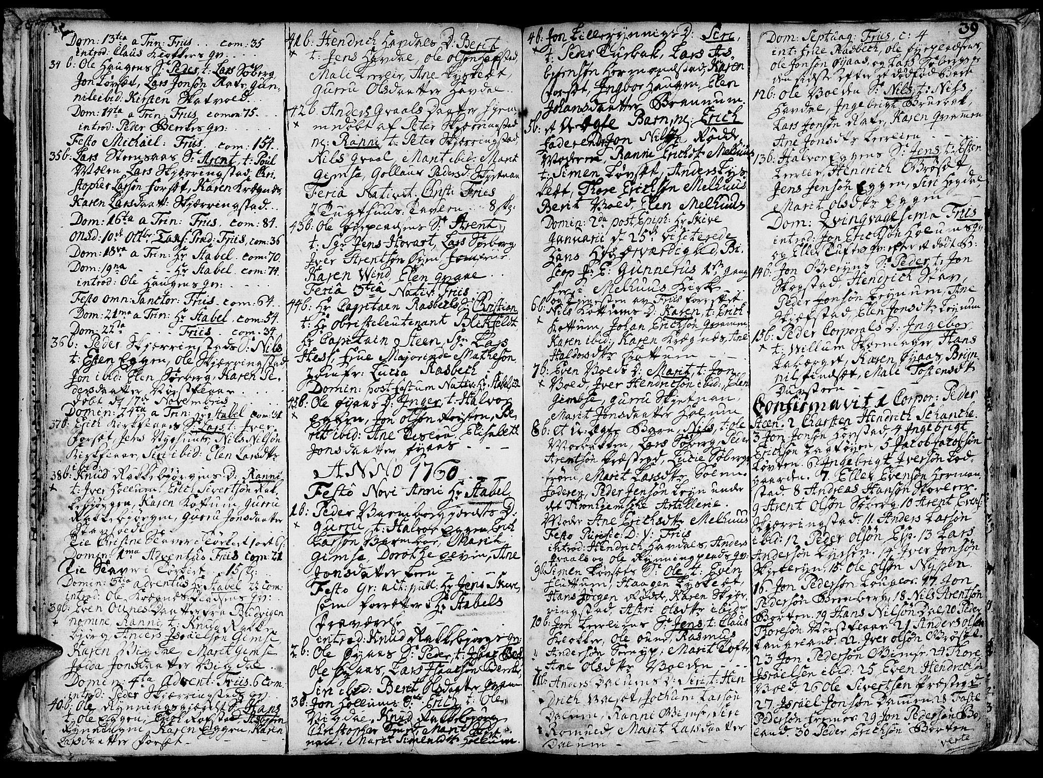 SAT, Ministerialprotokoller, klokkerbøker og fødselsregistre - Sør-Trøndelag, 691/L1057: Ministerialbok nr. 691A01 /1, 1740-1767, s. 39