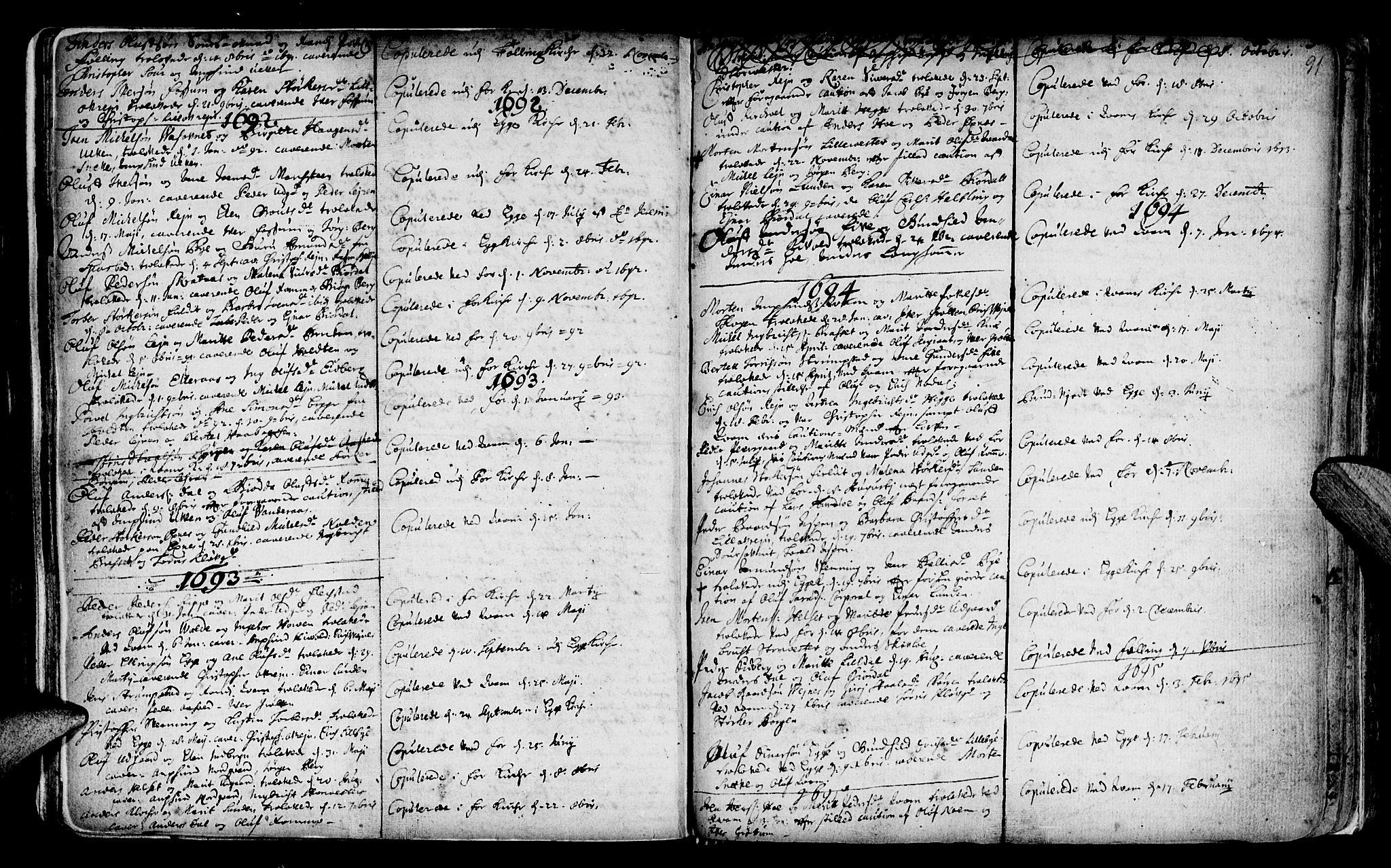 SAT, Ministerialprotokoller, klokkerbøker og fødselsregistre - Nord-Trøndelag, 746/L0439: Ministerialbok nr. 746A01, 1688-1759, s. 91