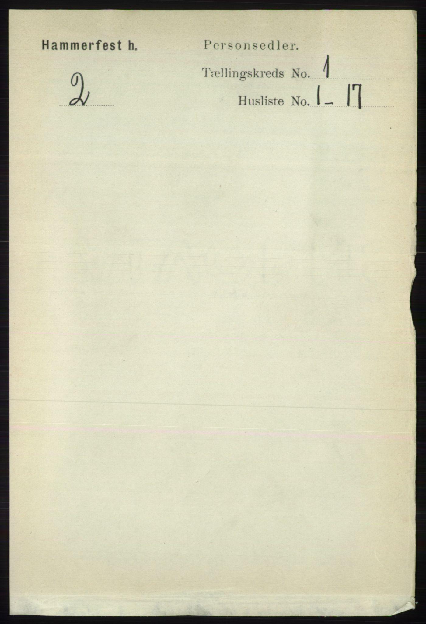 RA, Folketelling 1891 for 2016 Hammerfest herred, 1891, s. 81