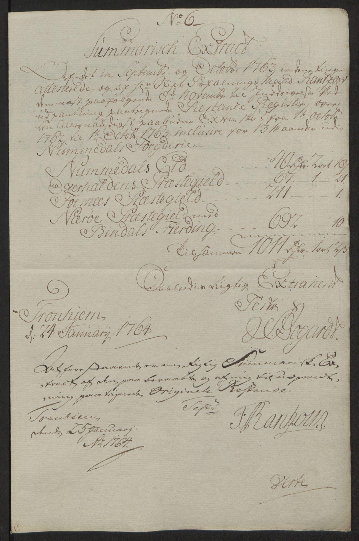 RA, Rentekammeret inntil 1814, Reviderte regnskaper, Fogderegnskap, R64/L4502: Ekstraskatten Namdal, 1762-1772, s. 76