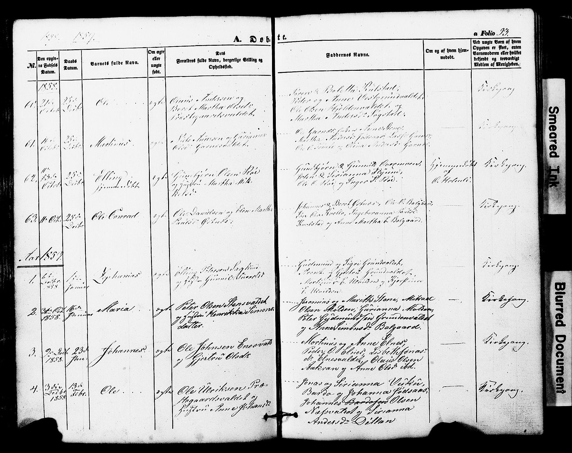 SAT, Ministerialprotokoller, klokkerbøker og fødselsregistre - Nord-Trøndelag, 724/L0268: Klokkerbok nr. 724C04, 1846-1878, s. 93