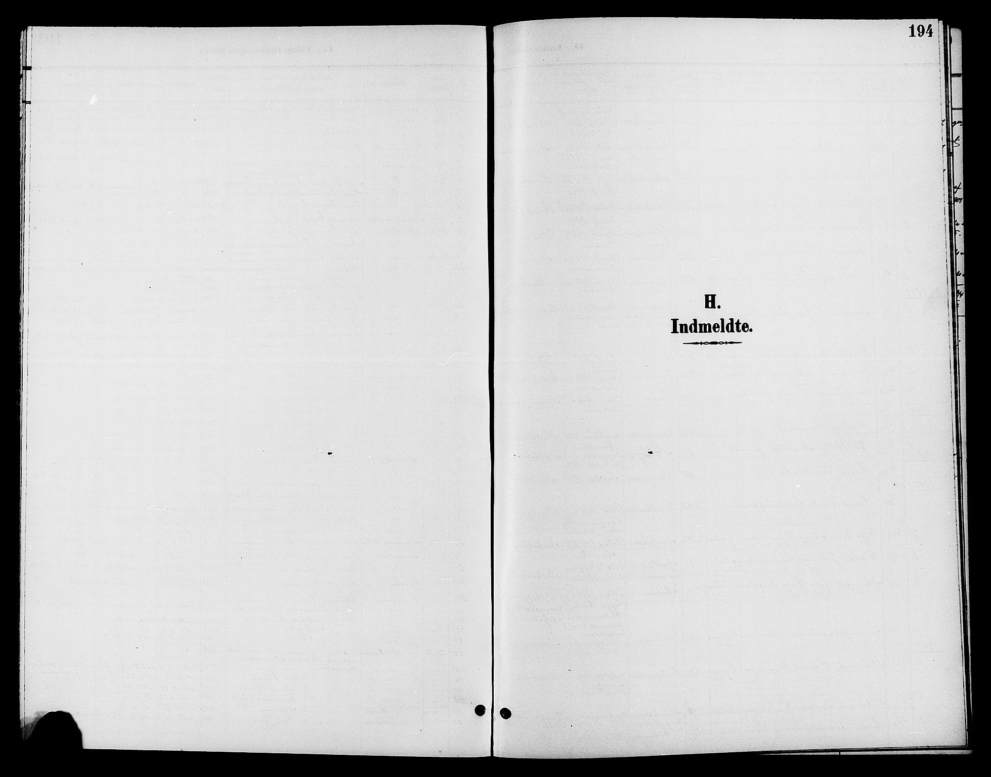 SAH, Jevnaker prestekontor, Klokkerbok nr. 2, 1896-1906, s. 194