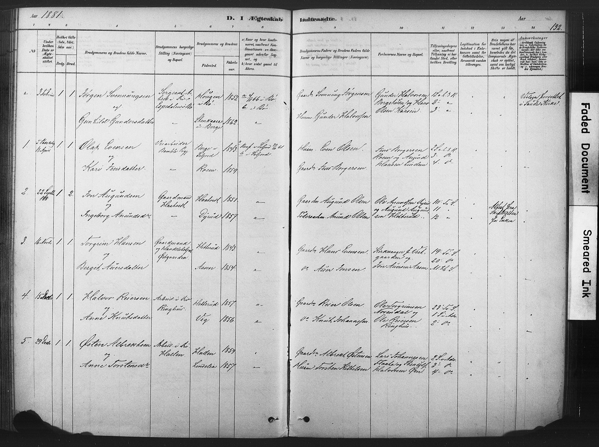 SAKO, Sauherad kirkebøker, F/Fb/L0002: Ministerialbok nr. II 2, 1878-1901, s. 132