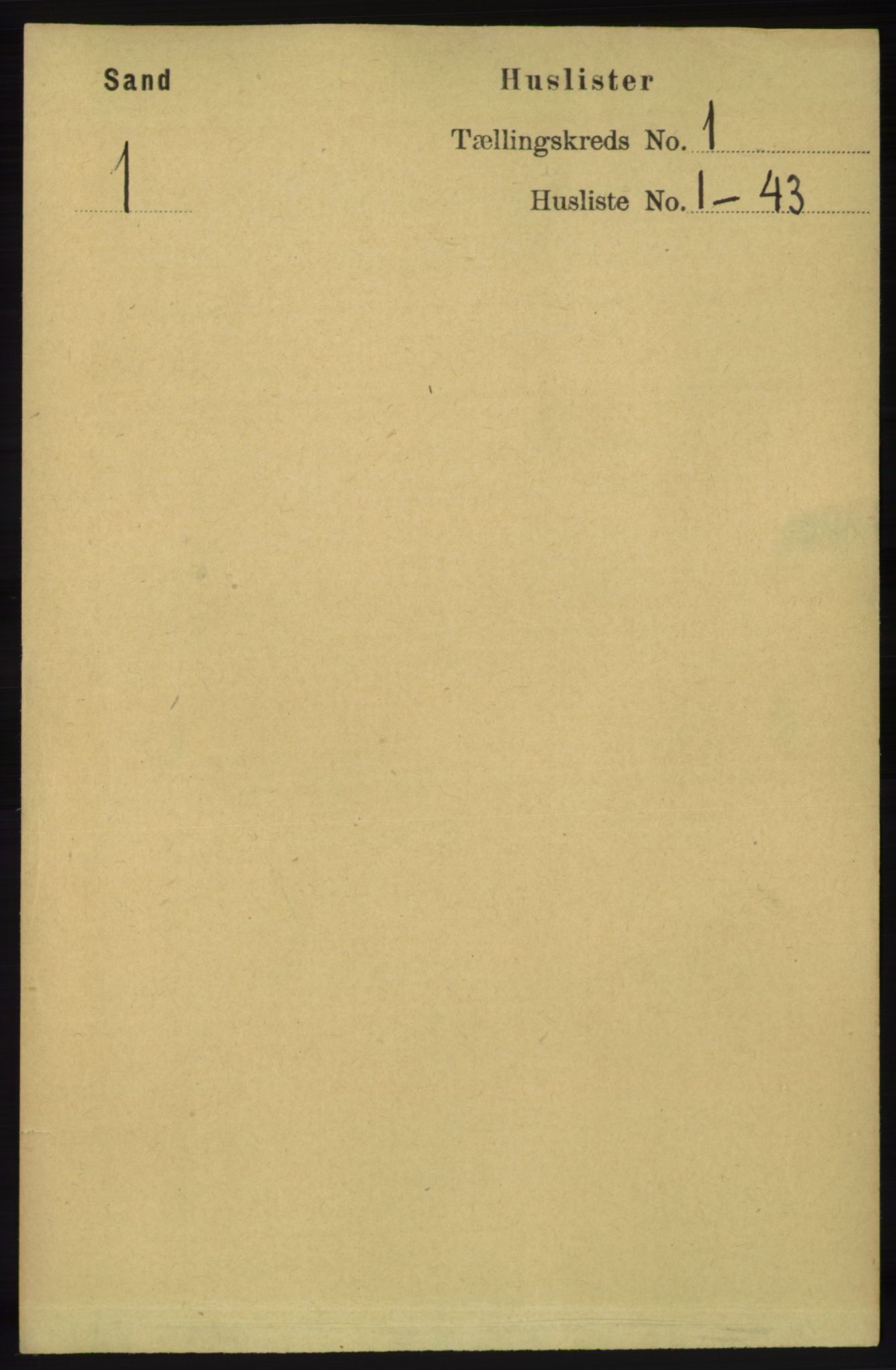 RA, Folketelling 1891 for 1136 Sand herred, 1891, s. 15