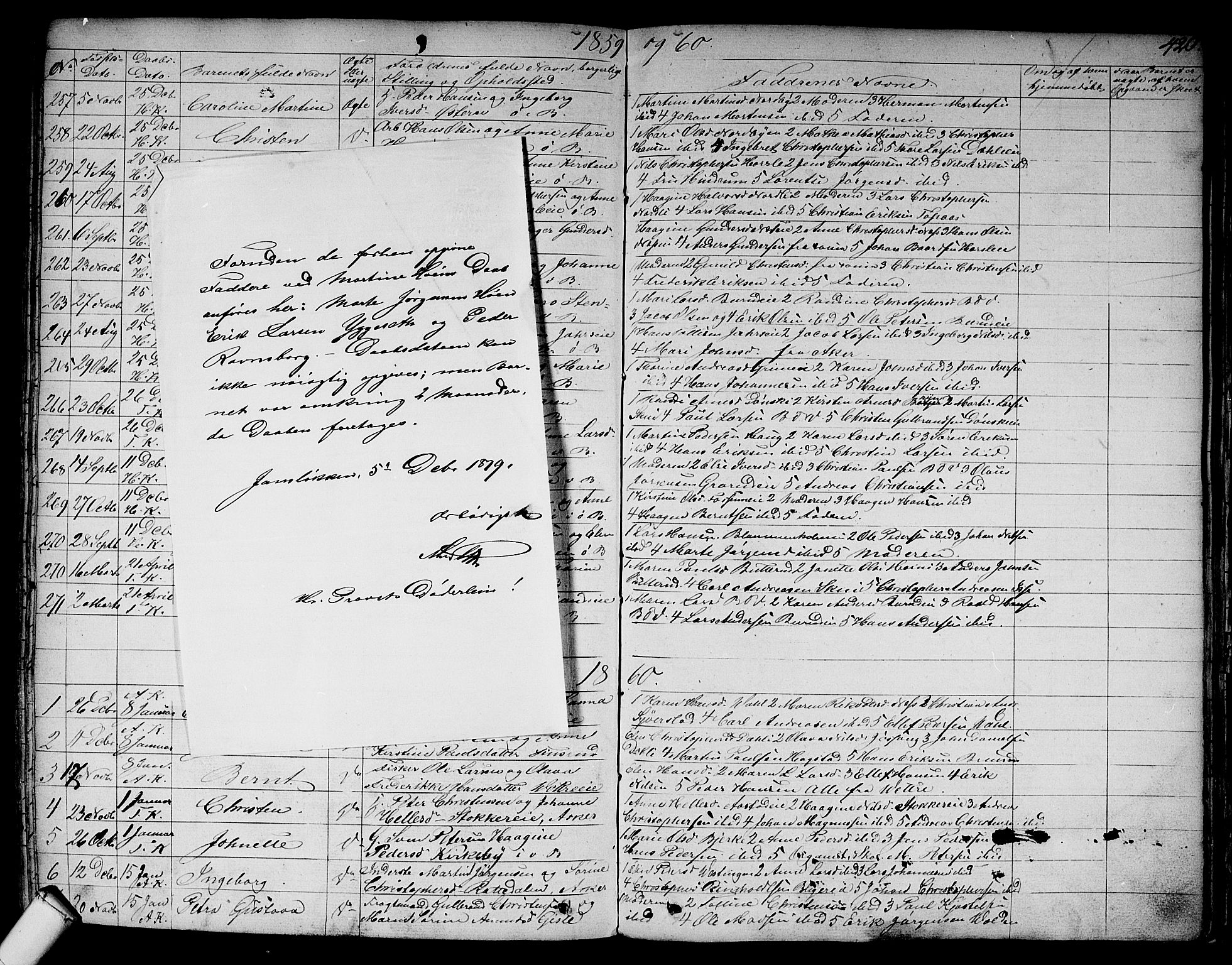 SAO, Asker prestekontor Kirkebøker, F/Fa/L0007: Ministerialbok nr. I 7, 1825-1864, s. 420