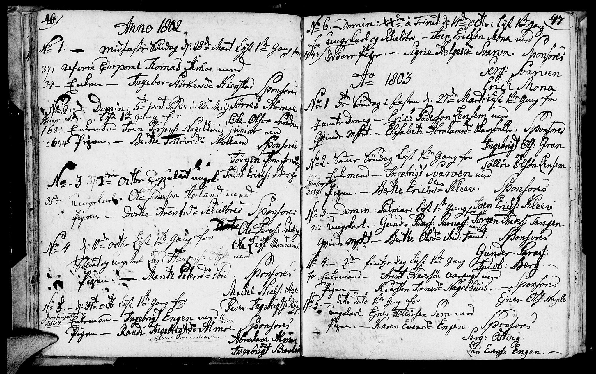 SAT, Ministerialprotokoller, klokkerbøker og fødselsregistre - Nord-Trøndelag, 749/L0468: Ministerialbok nr. 749A02, 1787-1817, s. 46-47