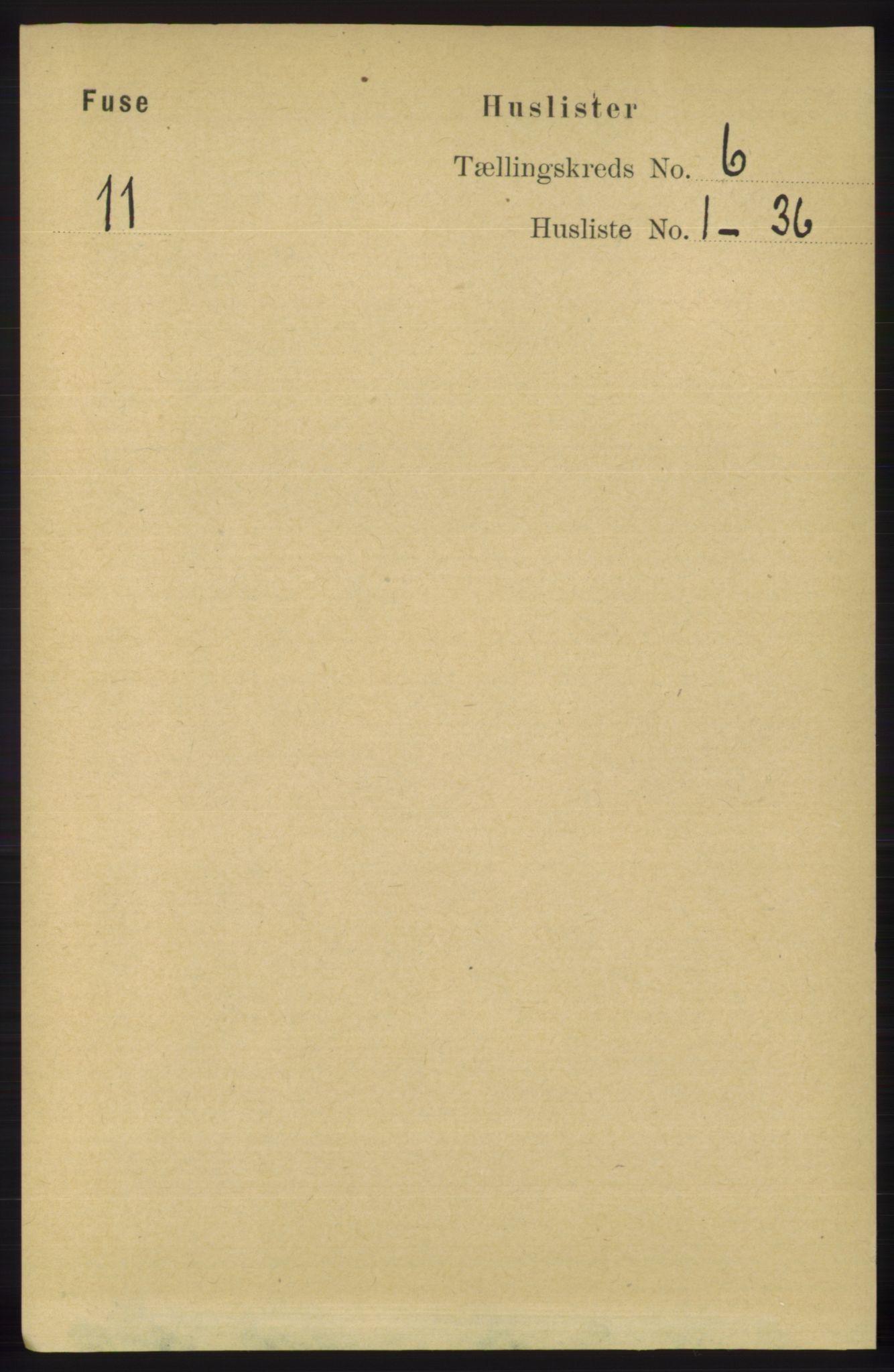 RA, Folketelling 1891 for 1241 Fusa herred, 1891, s. 1042
