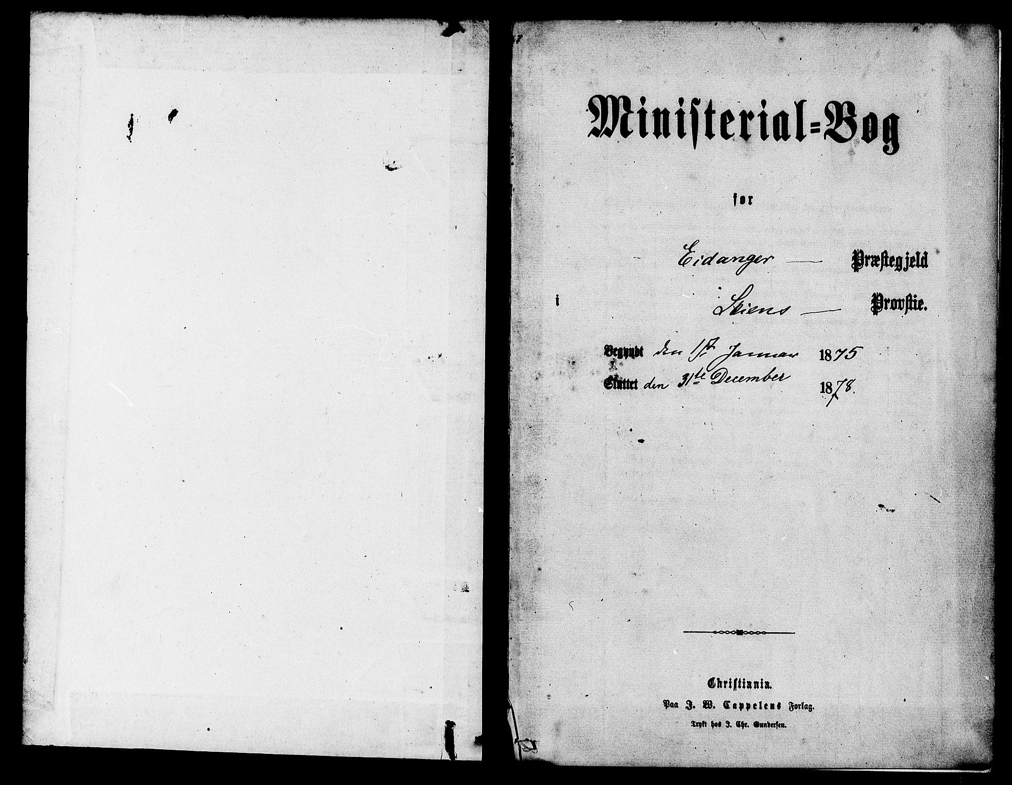 SAKO, Eidanger kirkebøker, F/Fa/L0011: Ministerialbok nr. 11, 1875-1878