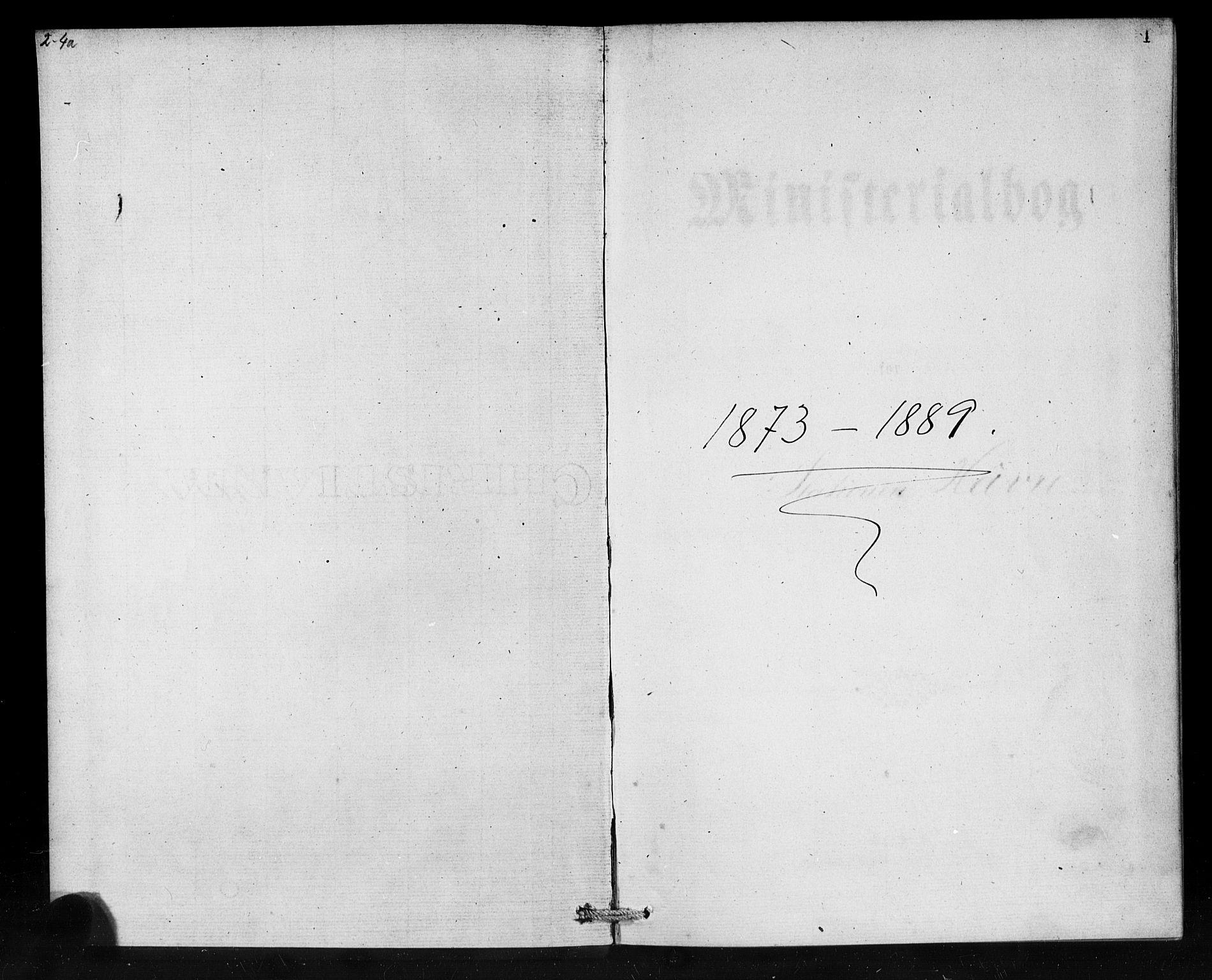 SAB, Den Norske Sjømannsmisjon i utlandet*, Ministerialbok nr. A 1, 1873-1889, s. 1