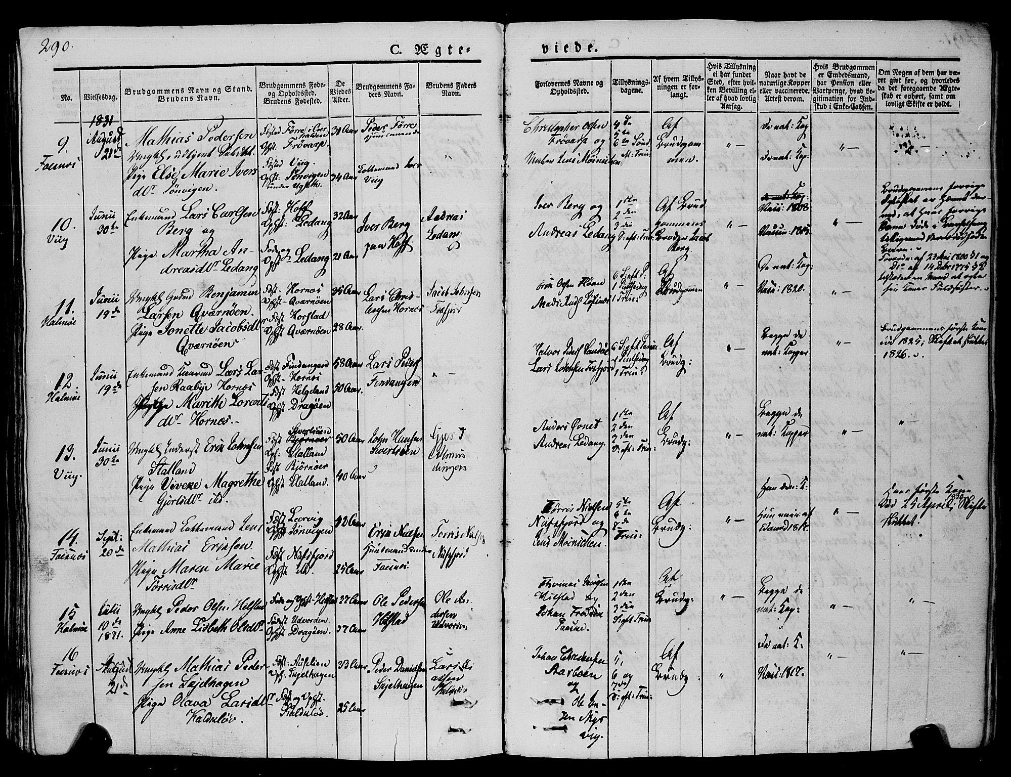 SAT, Ministerialprotokoller, klokkerbøker og fødselsregistre - Nord-Trøndelag, 773/L0614: Ministerialbok nr. 773A05, 1831-1856, s. 290