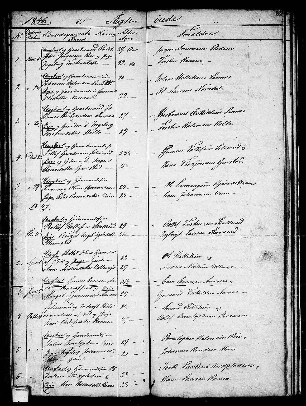 SAKO, Sauherad kirkebøker, G/Gb/L0001: Klokkerbok nr. II 1, 1845-1865, s. 87