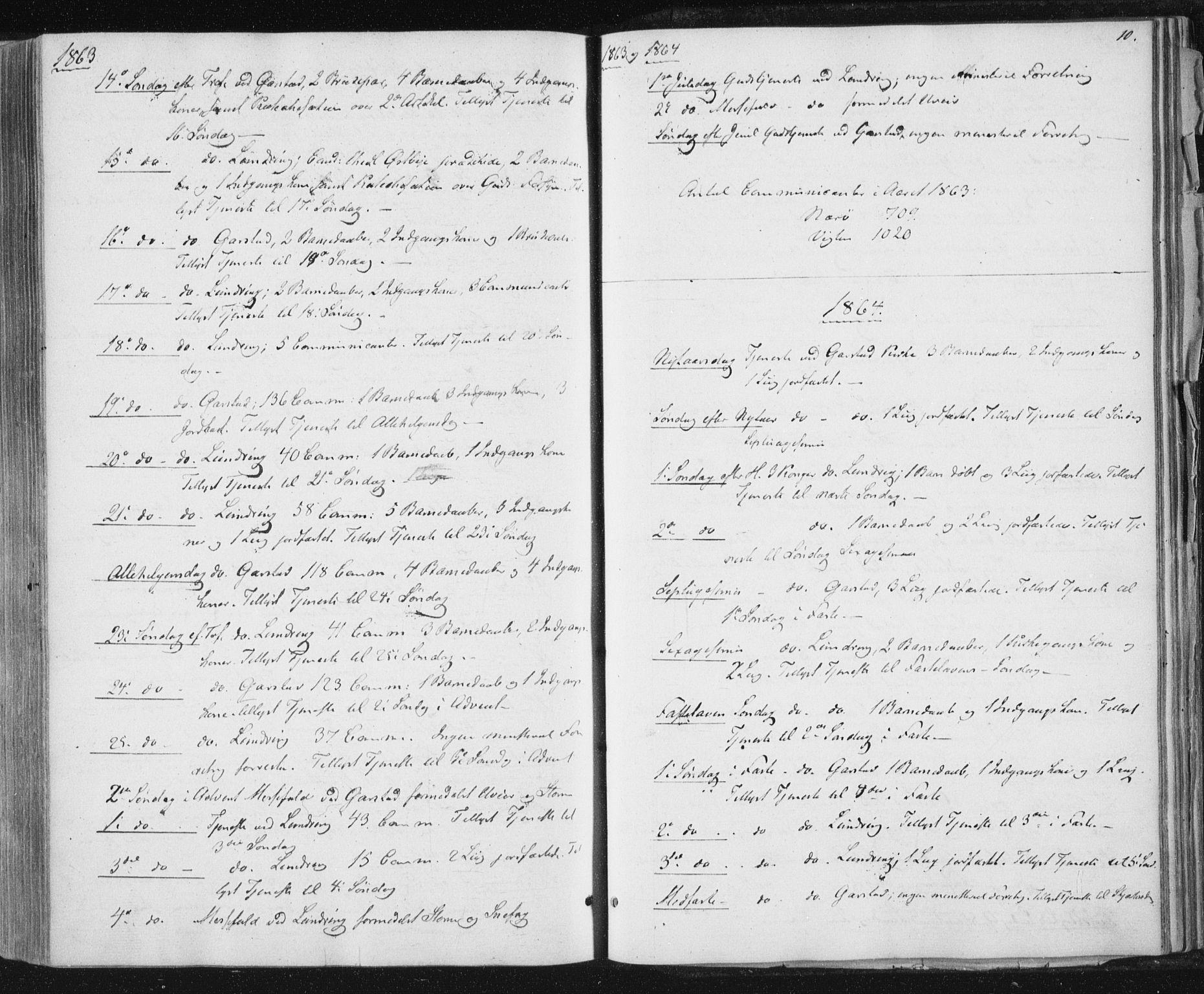 SAT, Ministerialprotokoller, klokkerbøker og fødselsregistre - Nord-Trøndelag, 784/L0670: Ministerialbok nr. 784A05, 1860-1876, s. 10