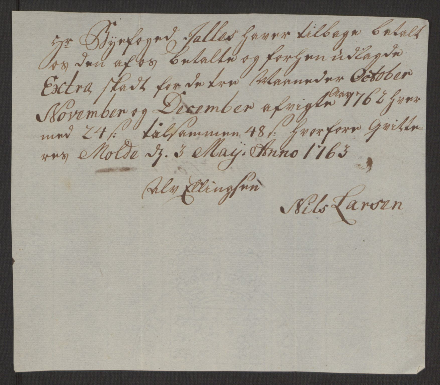 RA, Rentekammeret inntil 1814, Reviderte regnskaper, Byregnskaper, R/Rq/L0487: [Q1] Kontribusjonsregnskap, 1762-1772, s. 58