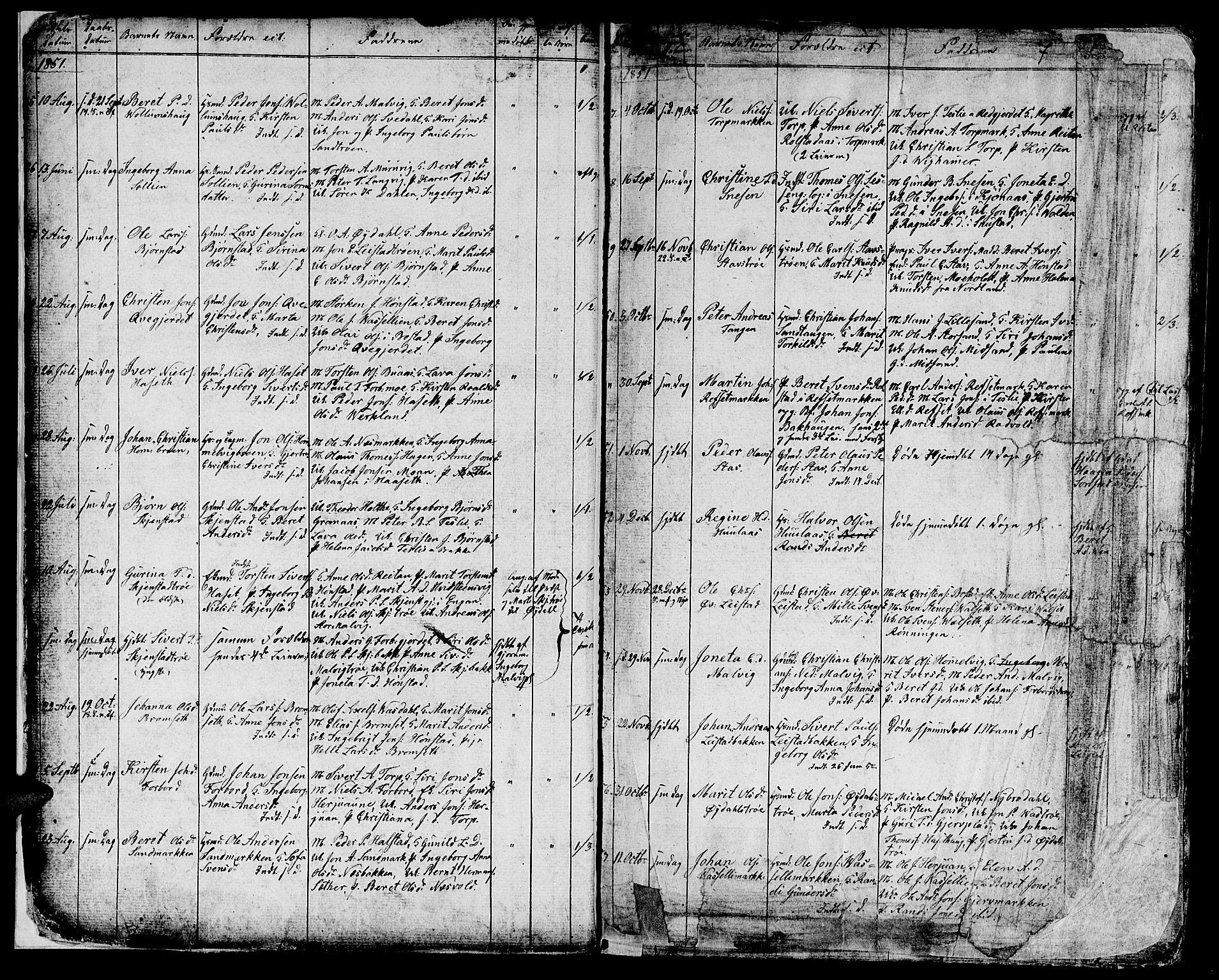 SAT, Ministerialprotokoller, klokkerbøker og fødselsregistre - Sør-Trøndelag, 616/L0422: Klokkerbok nr. 616C05, 1850-1888, s. 5