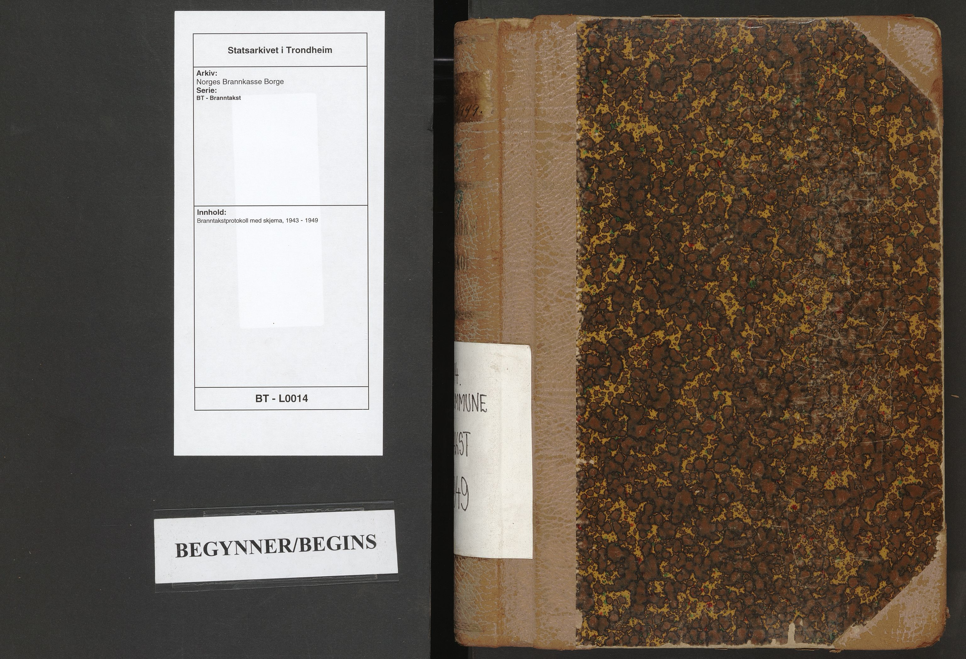 SAT, Norges Brannkasse Borge, BT/L0014: Branntakstprotokoll med skjema, 1943-1949