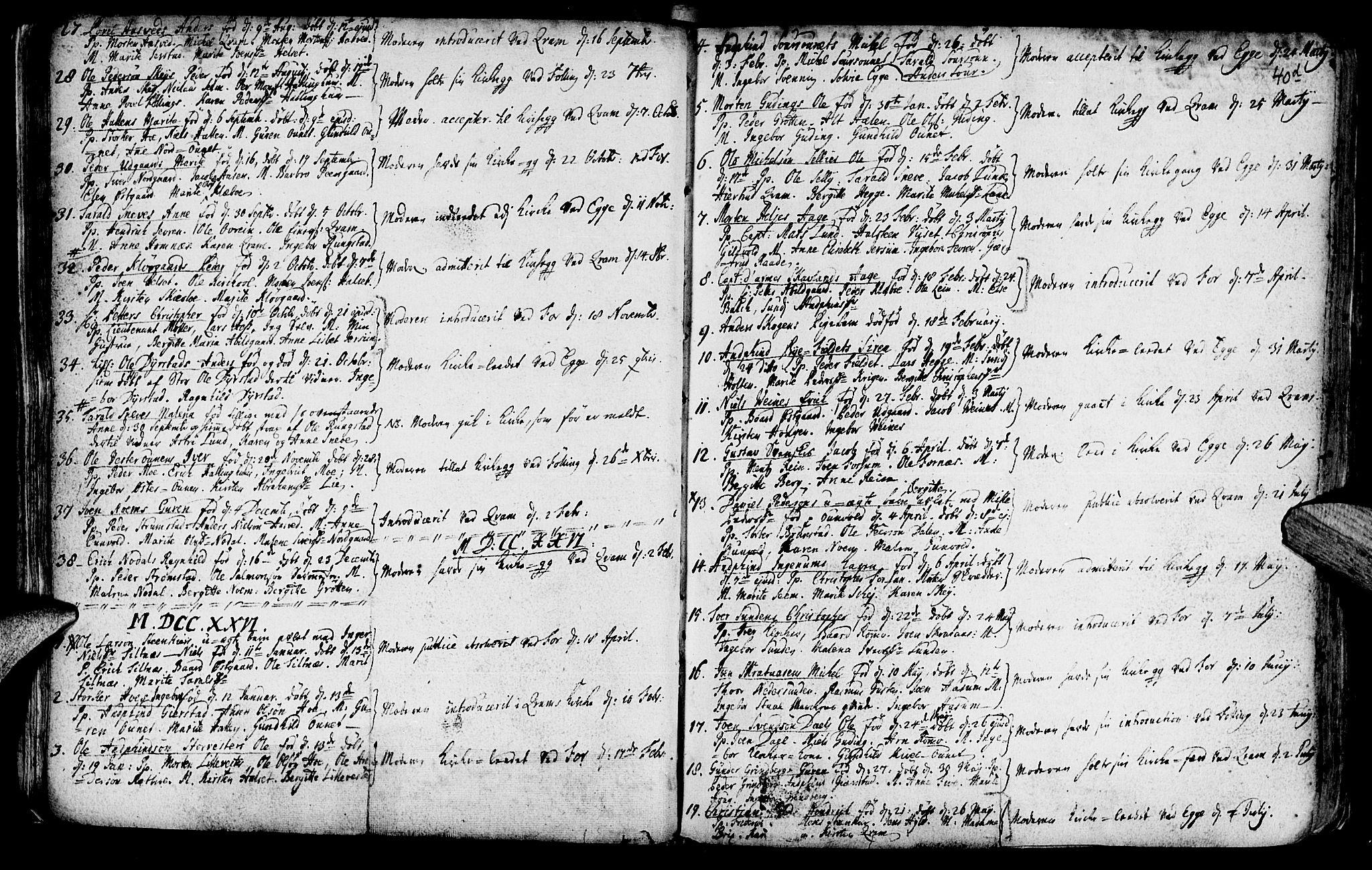 SAT, Ministerialprotokoller, klokkerbøker og fødselsregistre - Nord-Trøndelag, 746/L0439: Ministerialbok nr. 746A01, 1688-1759, s. 40e