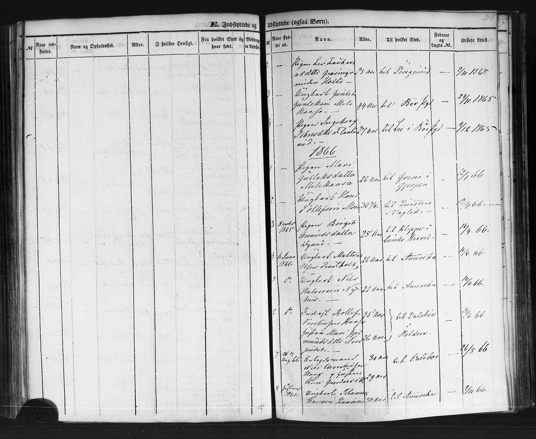 SAKO, Sauherad kirkebøker, F/Fb/L0001: Ministerialbok nr. II 1, 1851-1877, s. 205