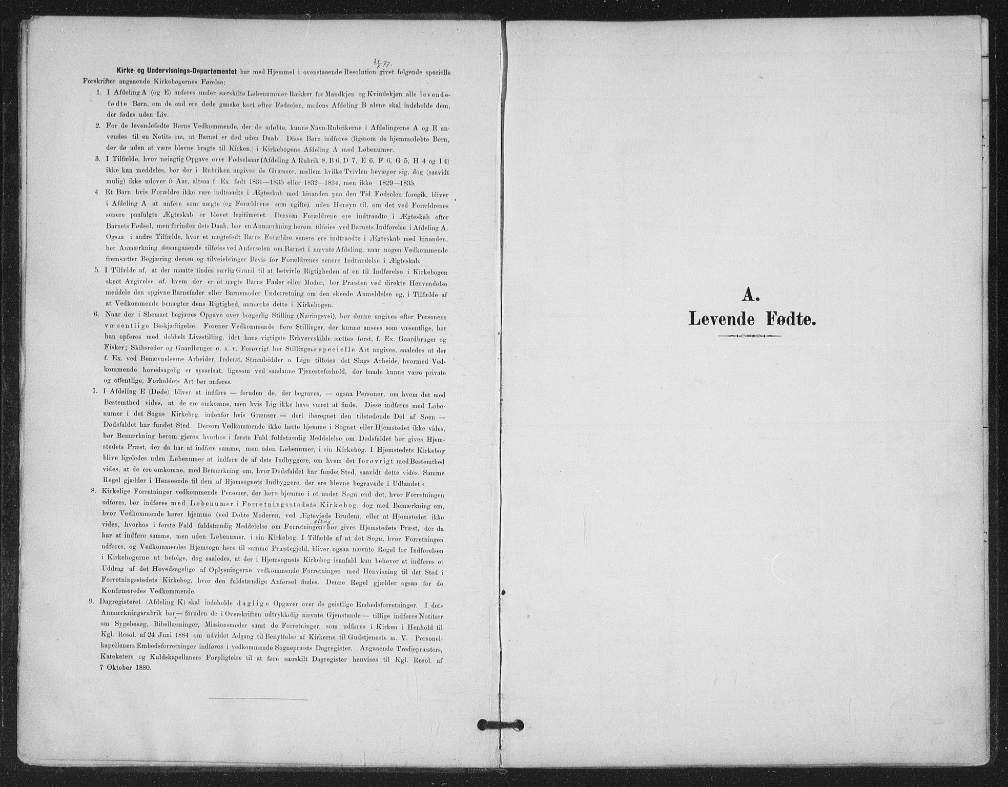 SAT, Ministerialprotokoller, klokkerbøker og fødselsregistre - Nordland, 843/L0628: Ministerialbok nr. 843A03, 1889-1907