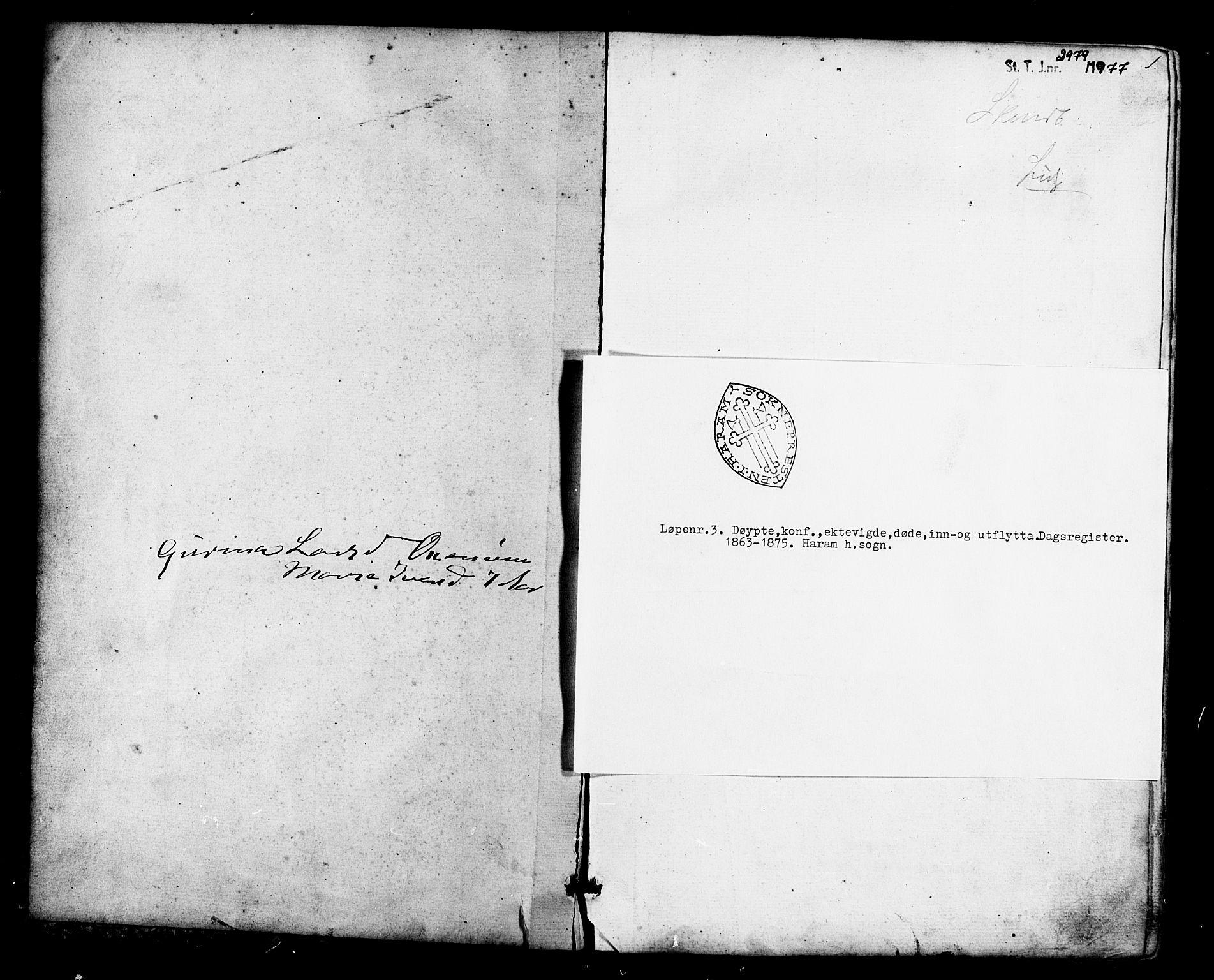SAT, Ministerialprotokoller, klokkerbøker og fødselsregistre - Møre og Romsdal, 536/L0498: Ministerialbok nr. 536A07, 1862-1875, s. 1