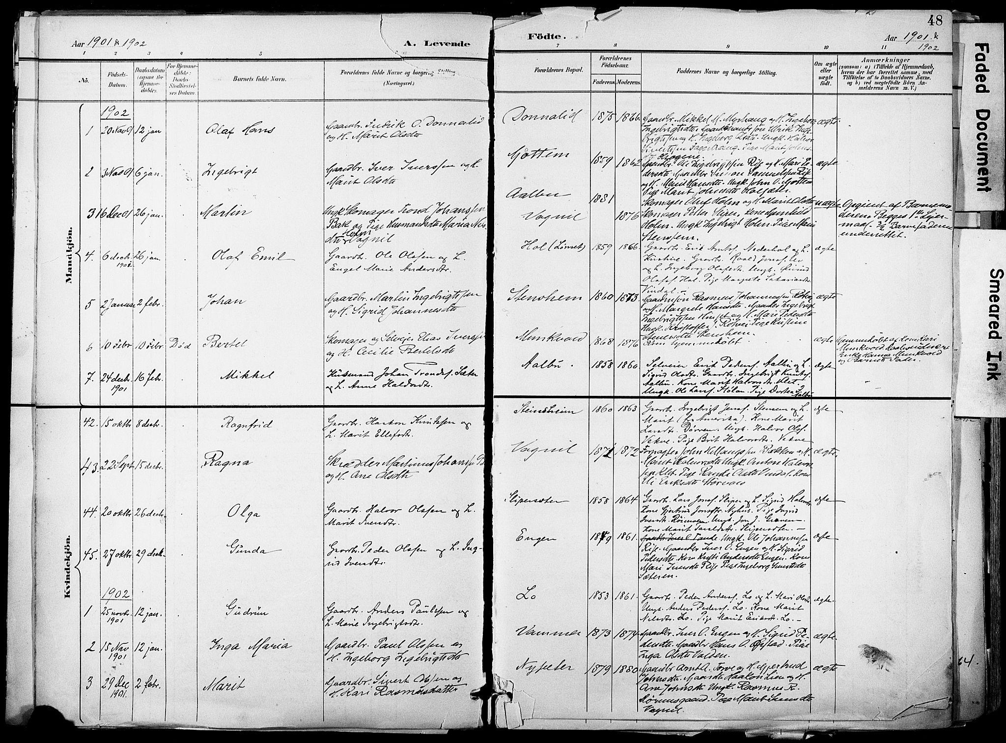 SAT, Ministerialprotokoller, klokkerbøker og fødselsregistre - Sør-Trøndelag, 678/L0902: Ministerialbok nr. 678A11, 1895-1911, s. 48