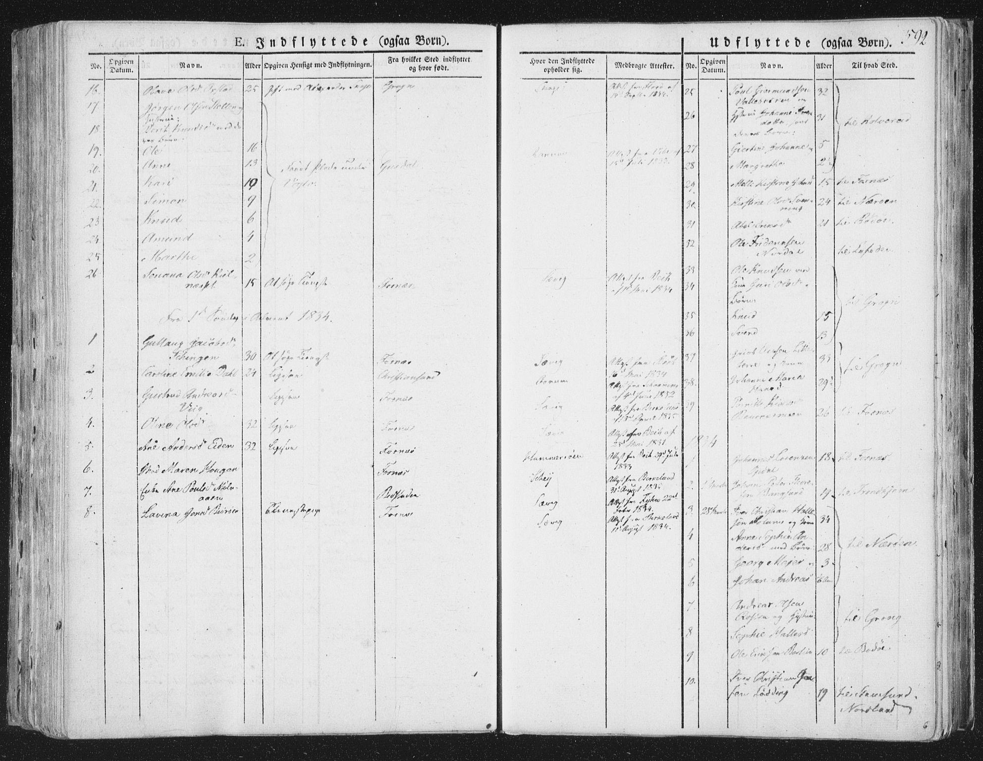 SAT, Ministerialprotokoller, klokkerbøker og fødselsregistre - Nord-Trøndelag, 764/L0552: Ministerialbok nr. 764A07b, 1824-1865, s. 592