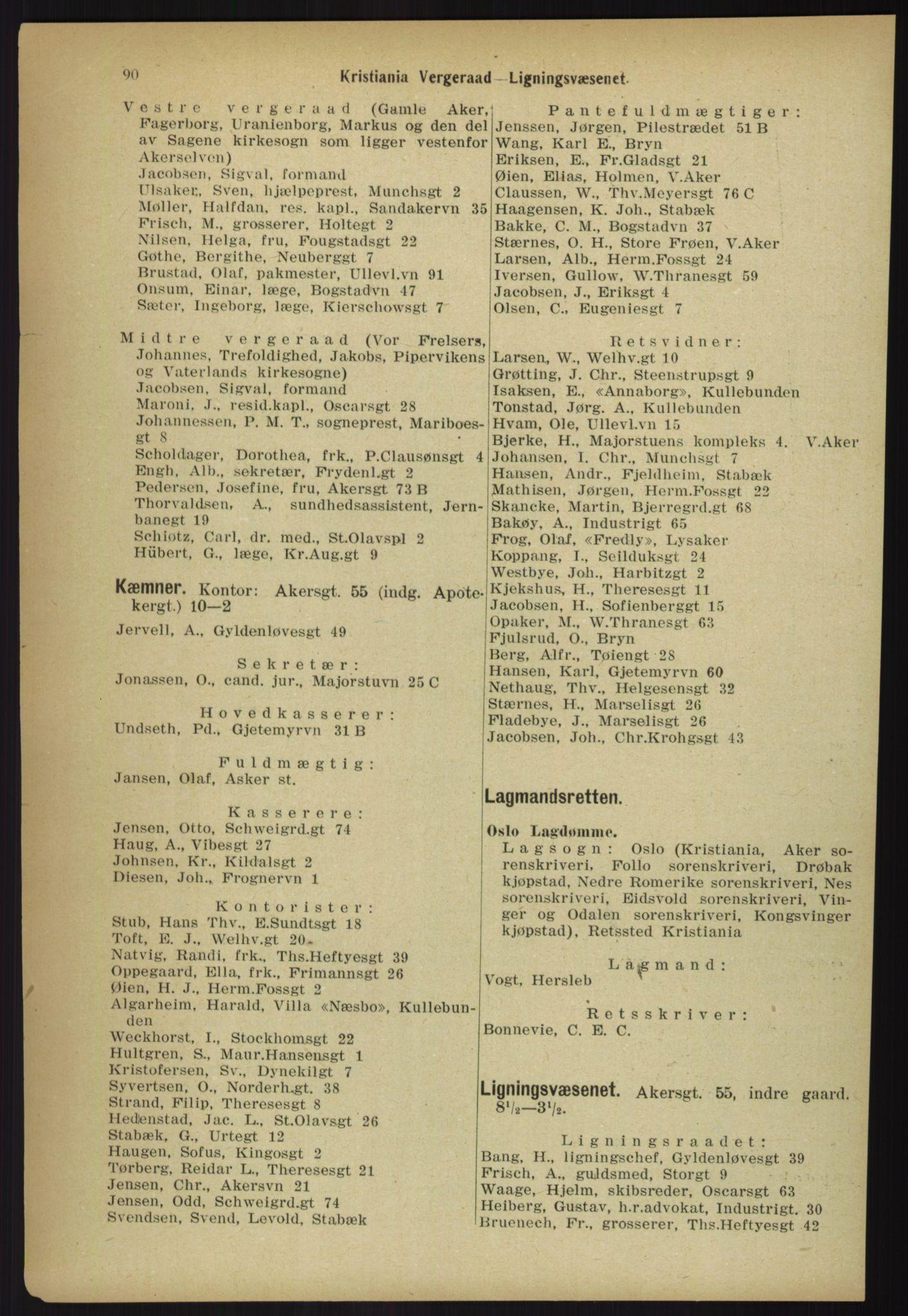 PUBL, Kristiania/Oslo adressebok, 1918, s. 97