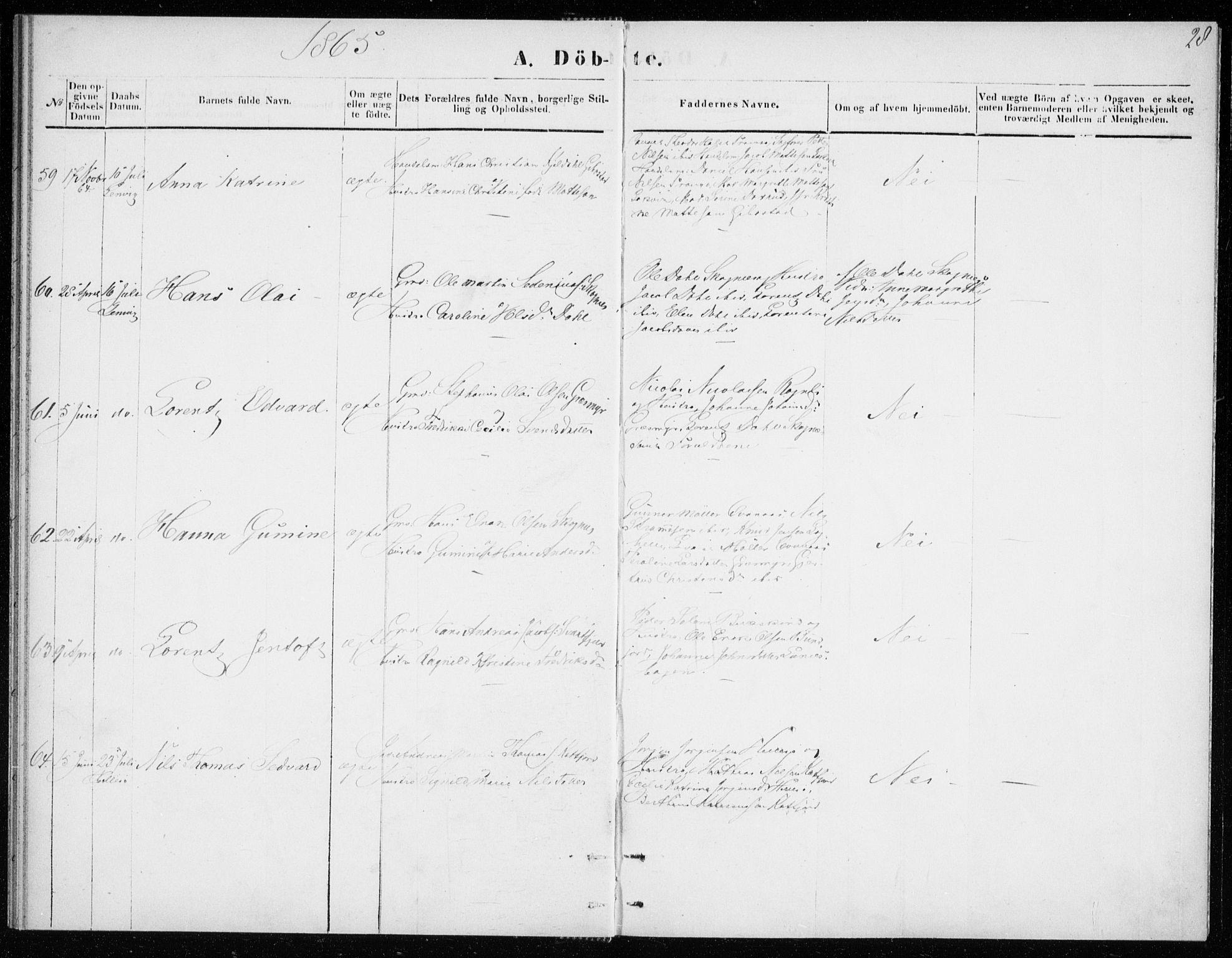 SATØ, Lenvik sokneprestembete, H/Ha: Ministerialbok nr. 8, 1864-1865, s. 28