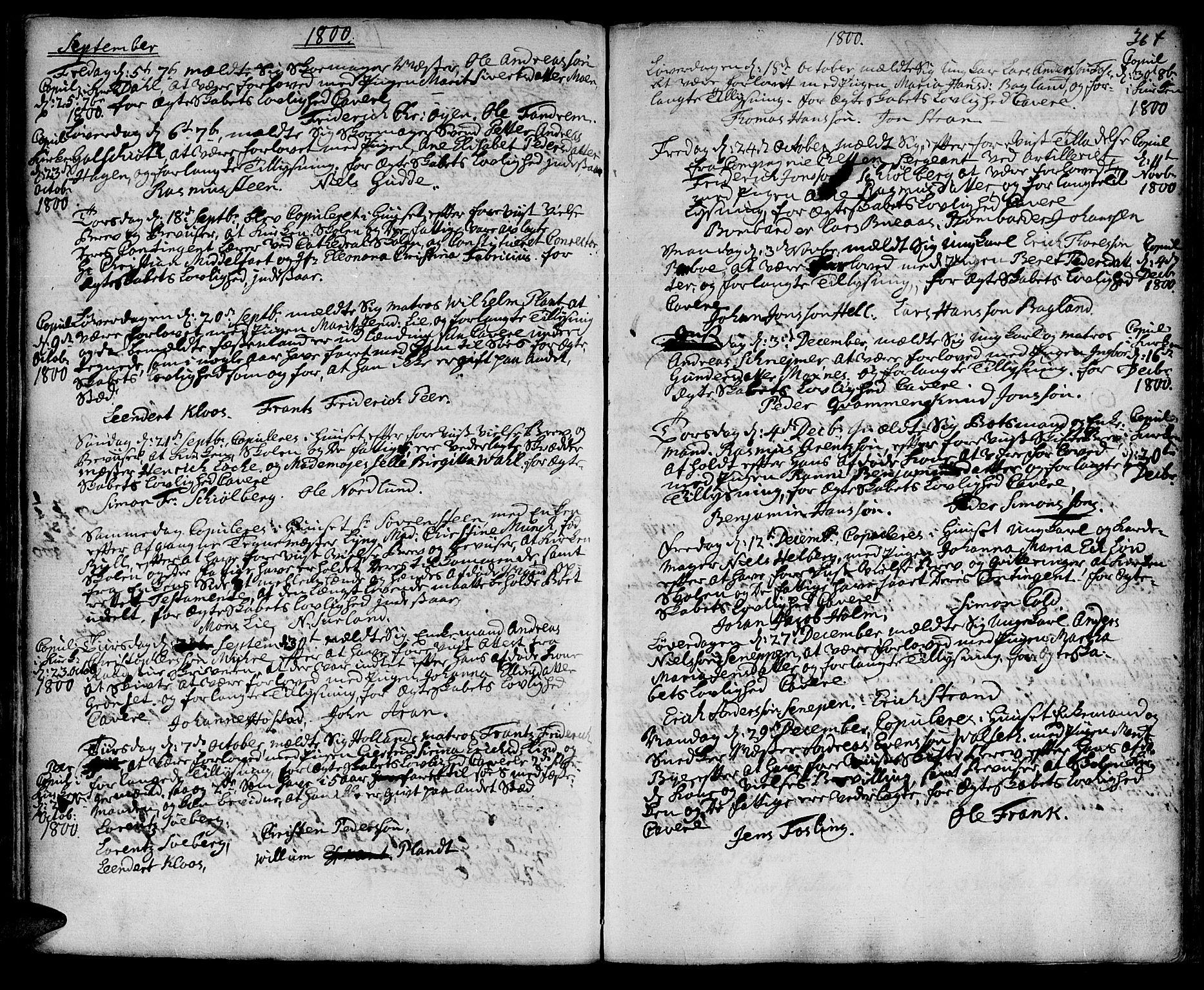 SAT, Ministerialprotokoller, klokkerbøker og fødselsregistre - Sør-Trøndelag, 601/L0038: Ministerialbok nr. 601A06, 1766-1877, s. 364