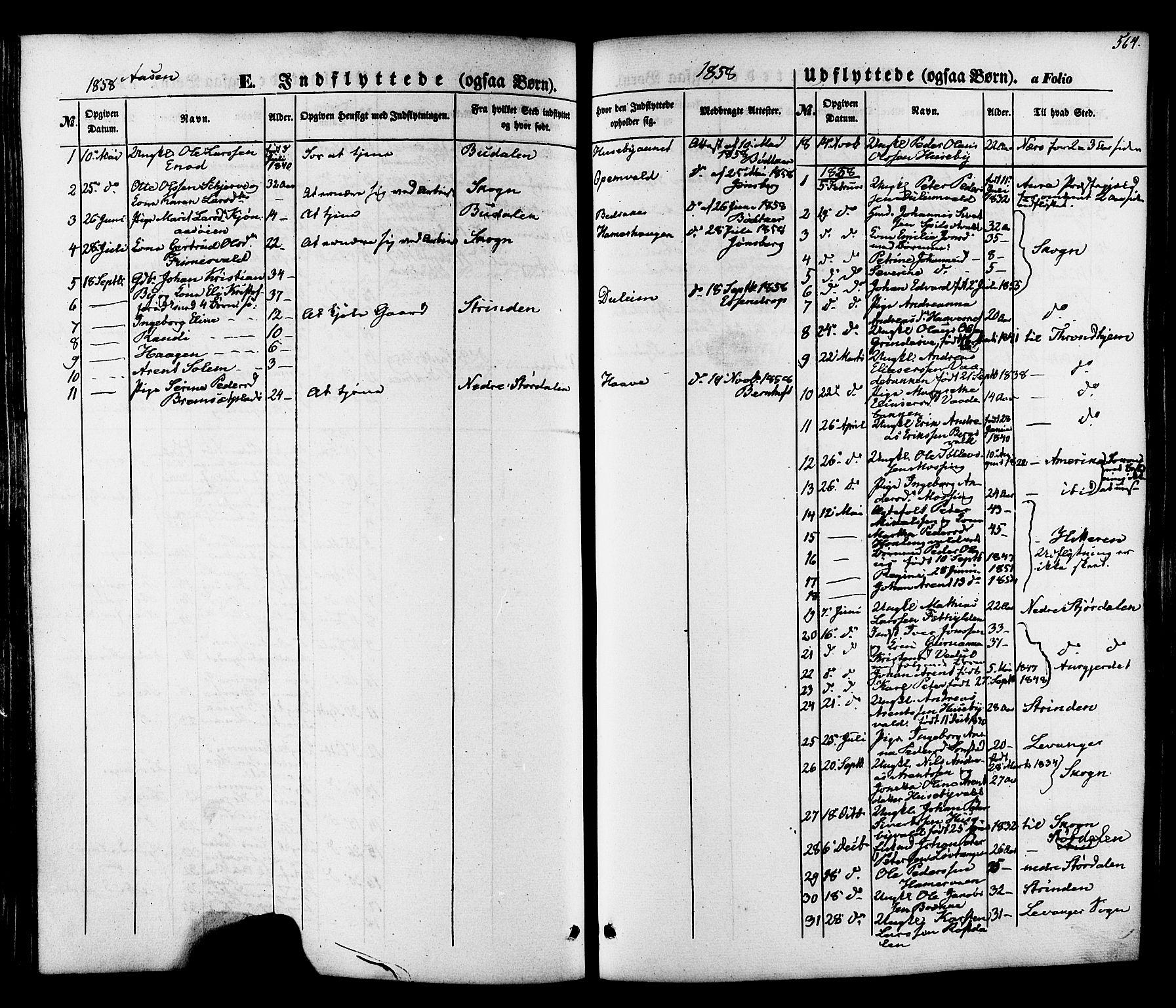 SAT, Ministerialprotokoller, klokkerbøker og fødselsregistre - Nord-Trøndelag, 713/L0116: Ministerialbok nr. 713A07 /2, 1850-1877, s. 564