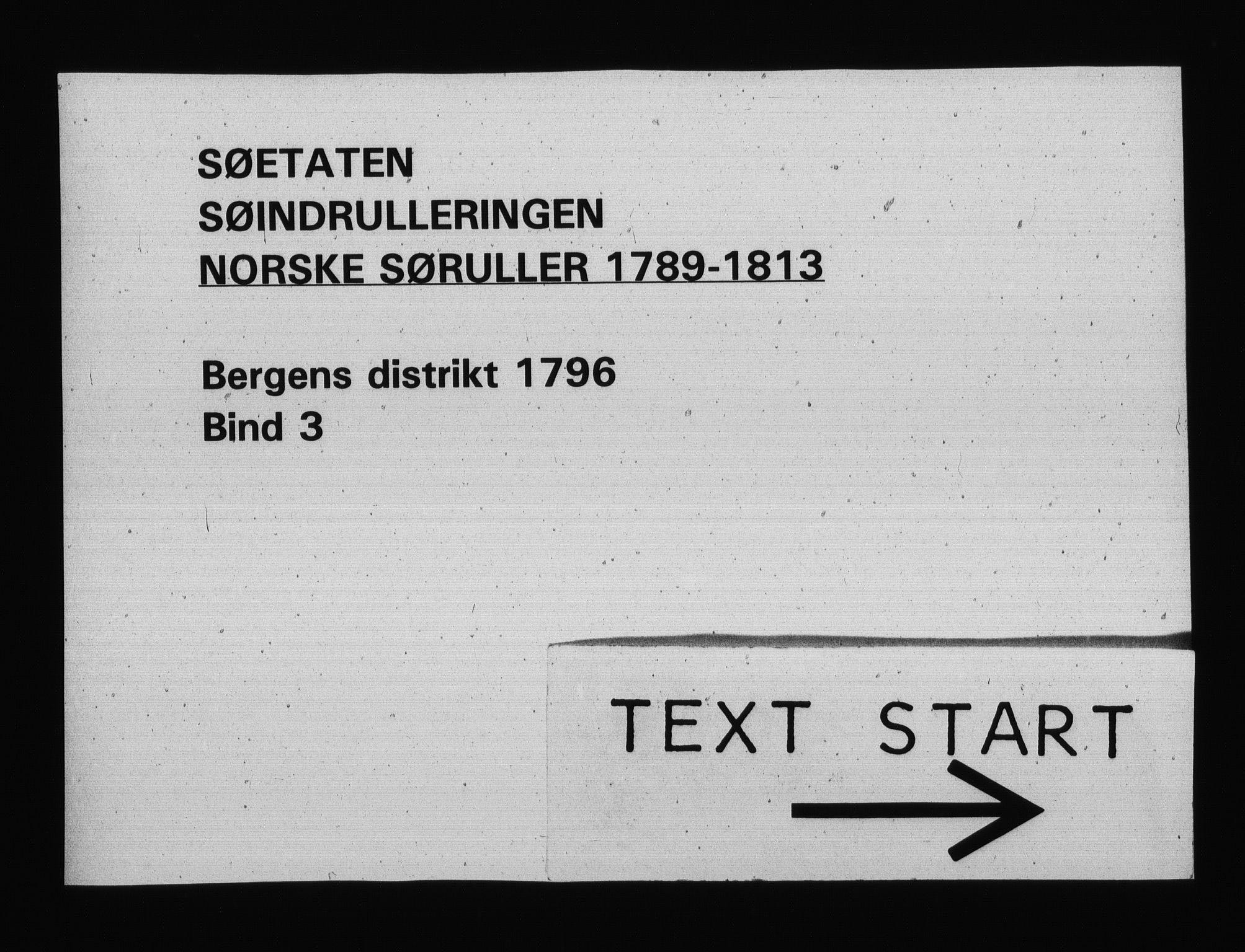 RA, Sjøetaten, F/L0225: Bergen distrikt, bind 3, 1796