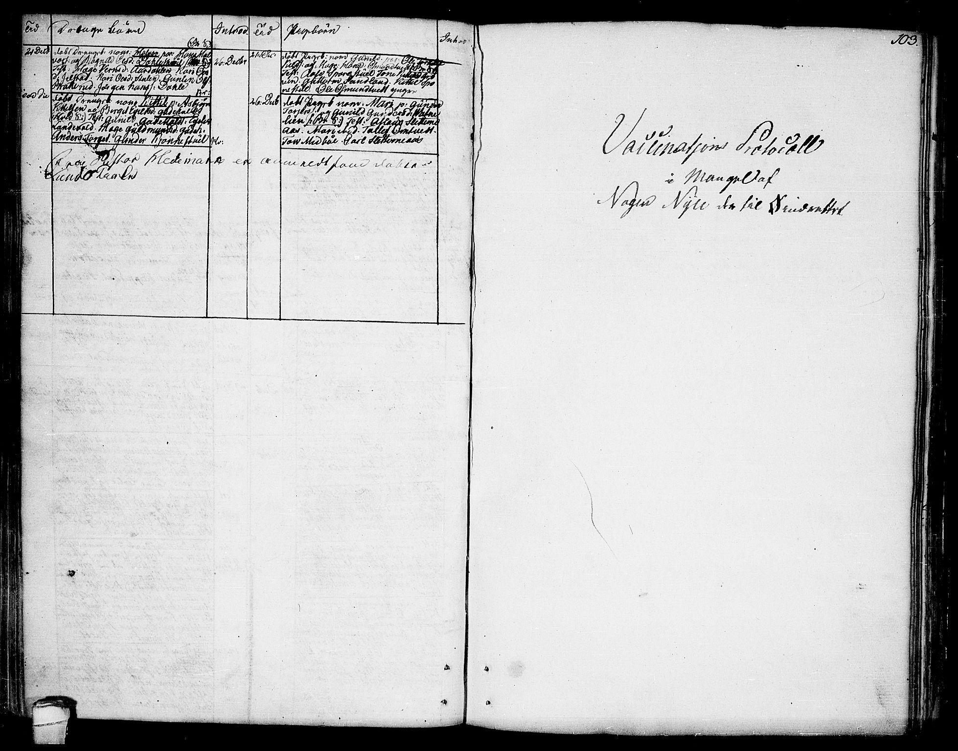 SAKO, Kviteseid kirkebøker, F/Fa/L0004: Ministerialbok nr. I 4, 1800-1814, s. 103