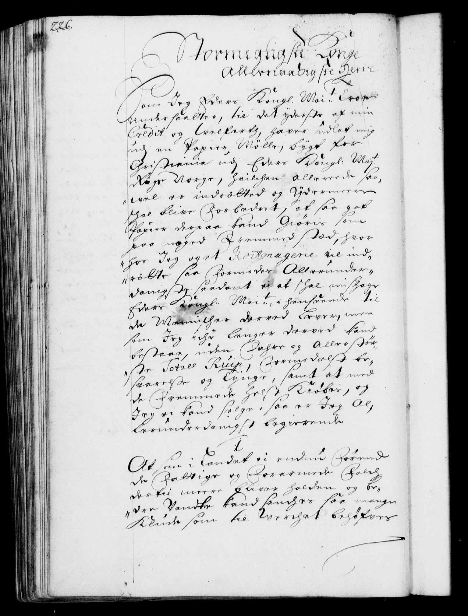 RA, Rentekammeret, Kammerkanselliet, G/Gf/Gfa/L0001: Resolusjonsprotokoll med register (merket RK 52.1), 1695-1706, s. 226