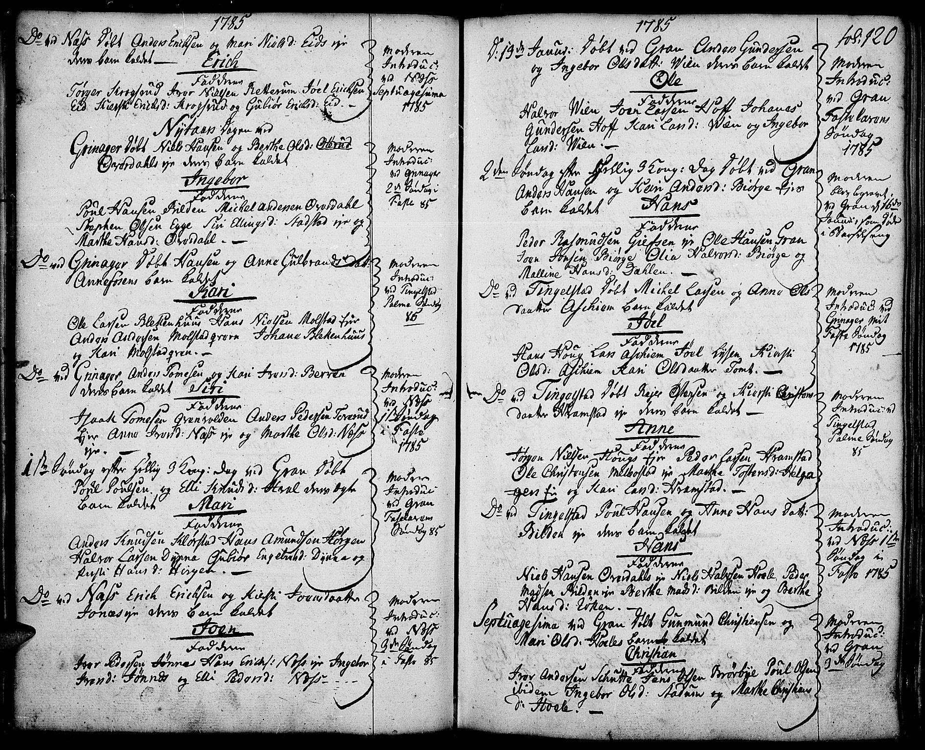 SAH, Gran prestekontor, Ministerialbok nr. 5, 1776-1788, s. 120