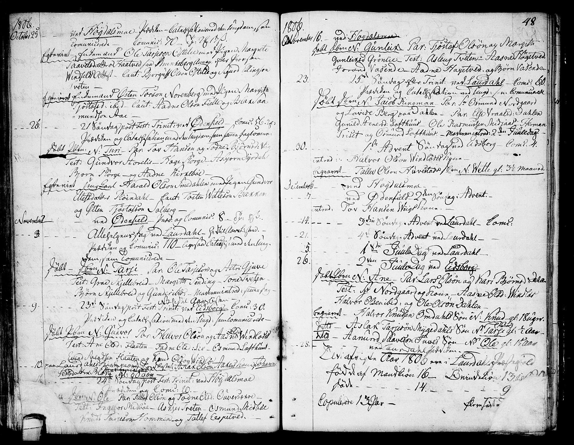 SAKO, Lårdal kirkebøker, F/Fa/L0004: Ministerialbok nr. I 4, 1790-1814, s. 48