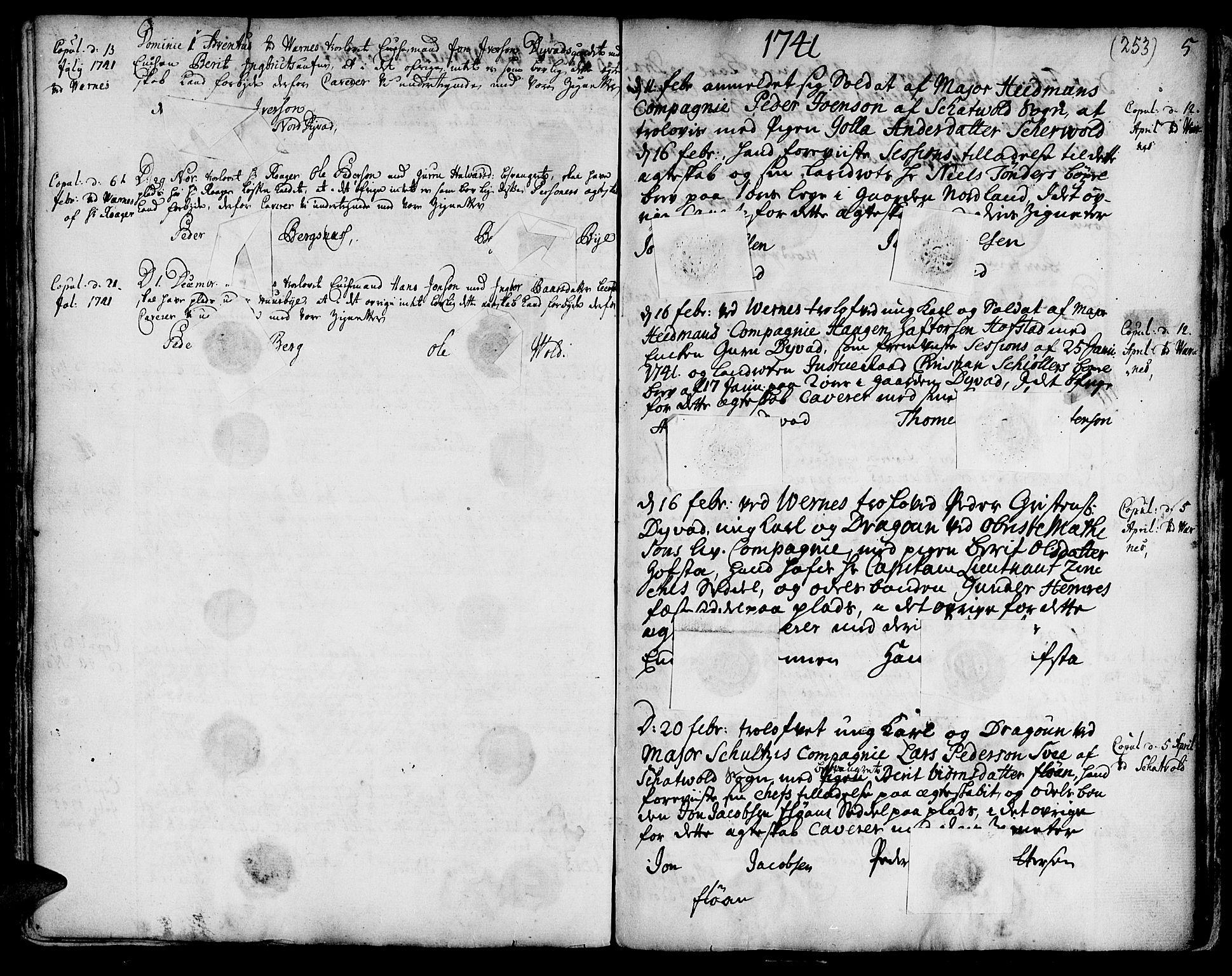 SAT, Ministerialprotokoller, klokkerbøker og fødselsregistre - Nord-Trøndelag, 709/L0056: Ministerialbok nr. 709A04, 1740-1756, s. 253