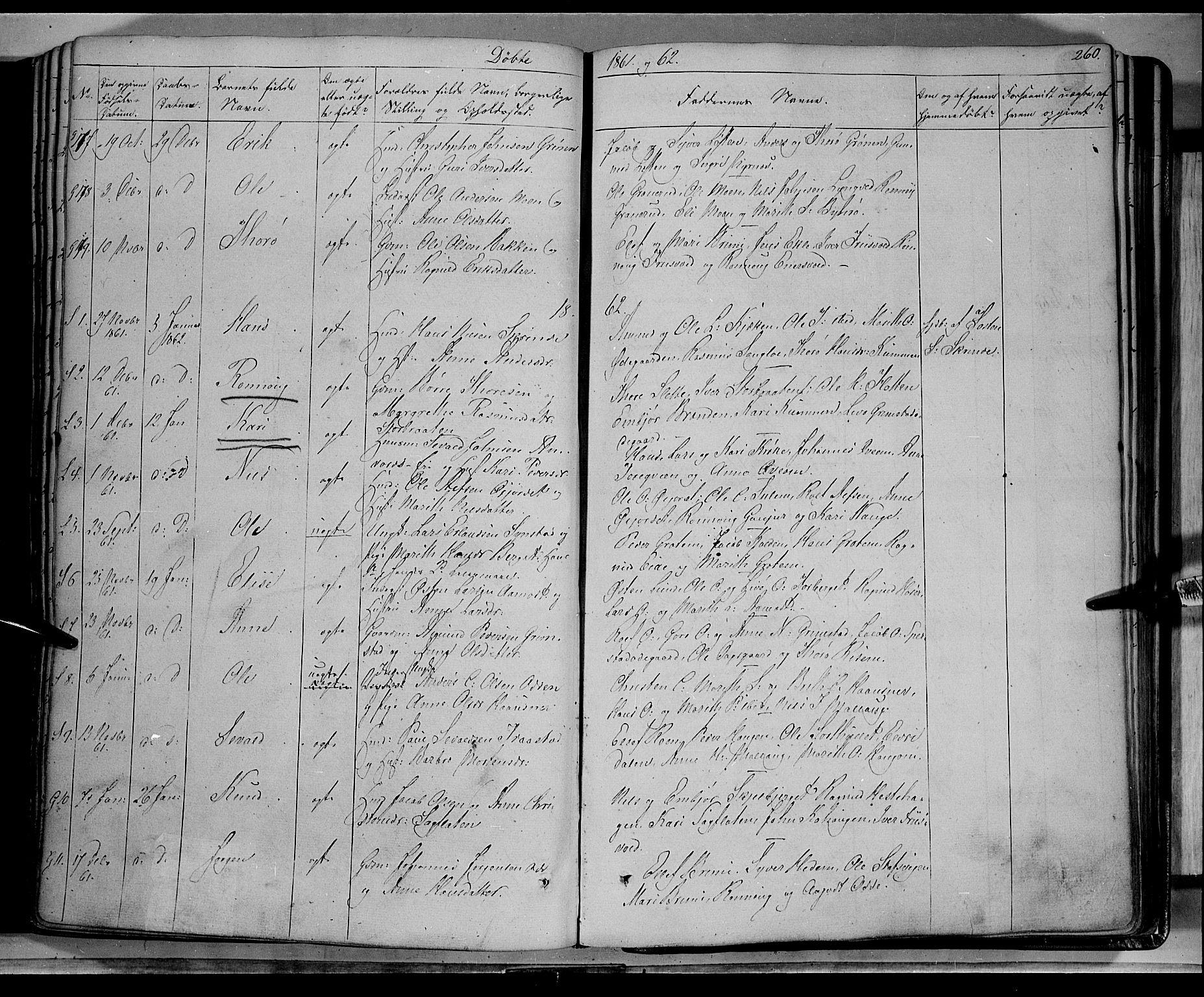 SAH, Lom prestekontor, K/L0006: Ministerialbok nr. 6A, 1837-1863, s. 260