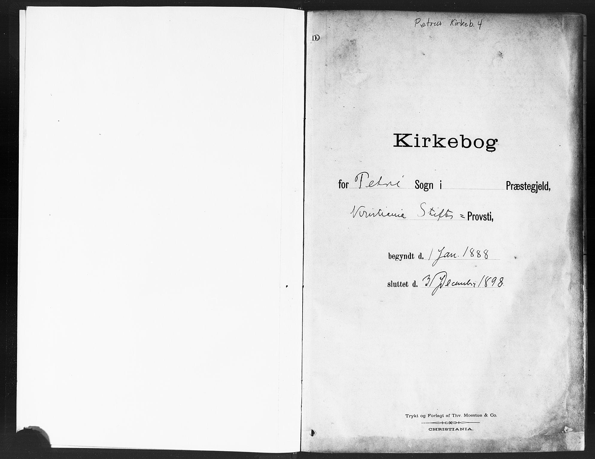 SAO, Petrus prestekontor Kirkebøker, F/Fa/L0004: Ministerialbok nr. 4, 1888-1898