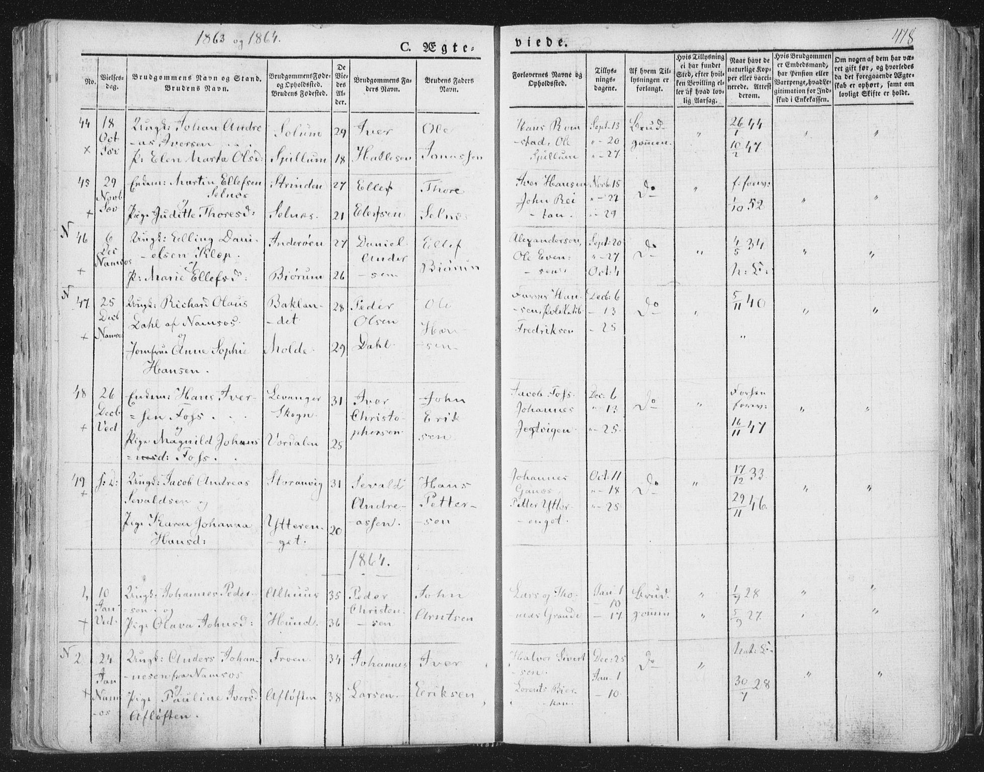SAT, Ministerialprotokoller, klokkerbøker og fødselsregistre - Nord-Trøndelag, 764/L0552: Ministerialbok nr. 764A07b, 1824-1865, s. 418