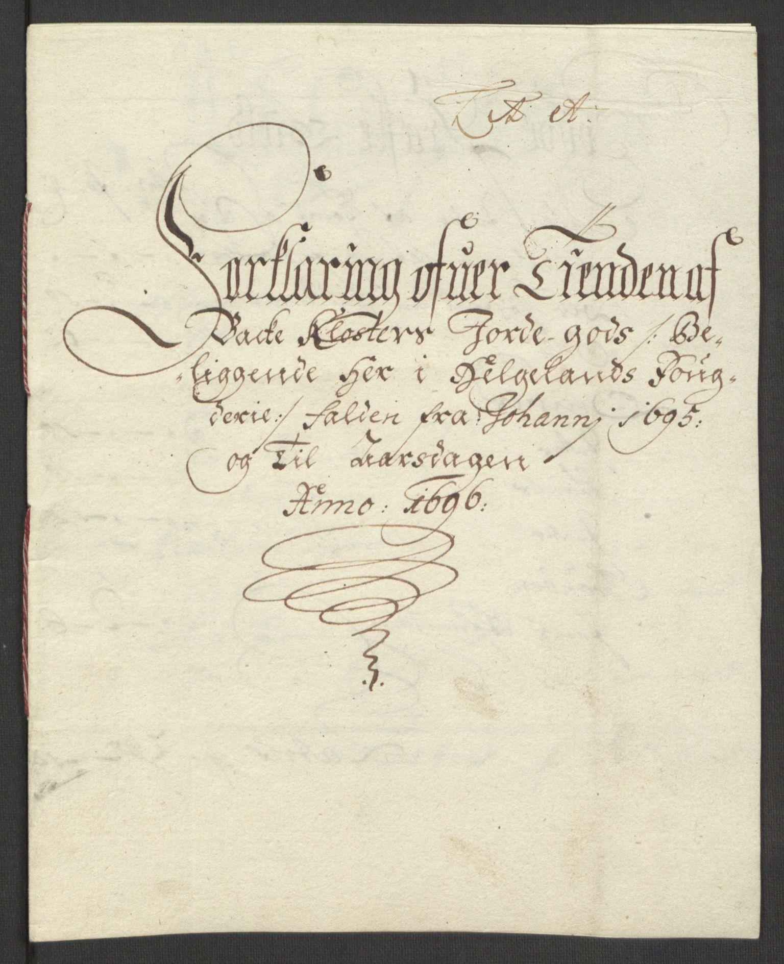 RA, Rentekammeret inntil 1814, Reviderte regnskaper, Fogderegnskap, R65/L4505: Fogderegnskap Helgeland, 1693-1696, s. 408