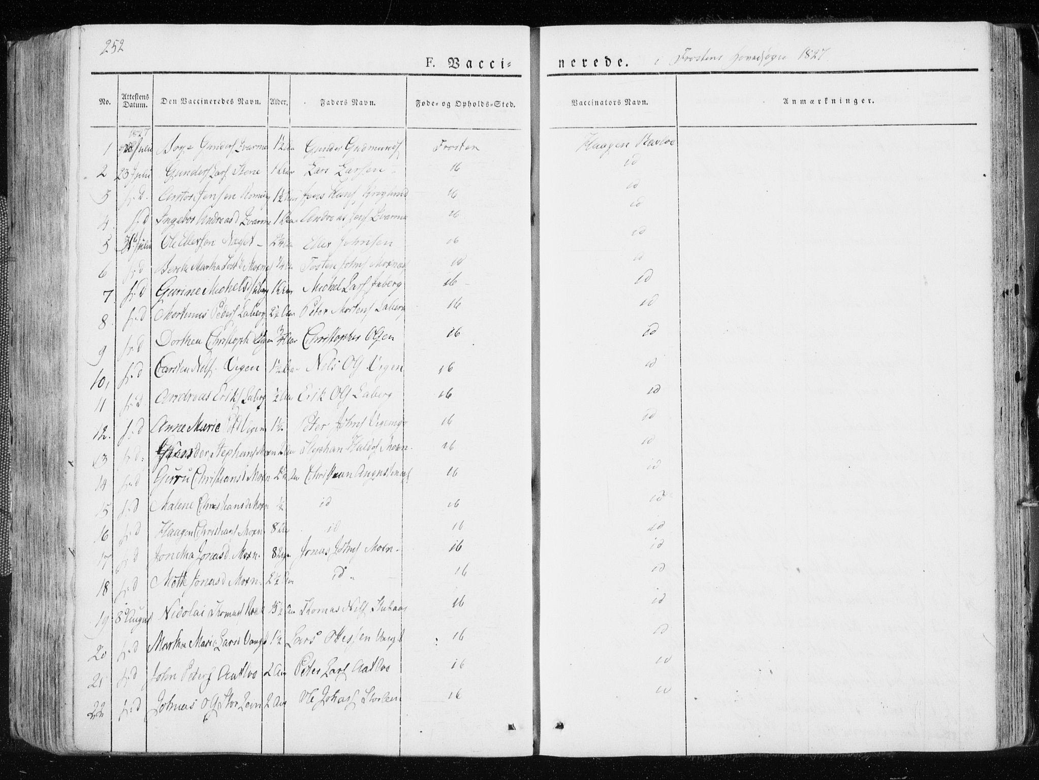 SAT, Ministerialprotokoller, klokkerbøker og fødselsregistre - Nord-Trøndelag, 713/L0114: Ministerialbok nr. 713A05, 1827-1839, s. 252