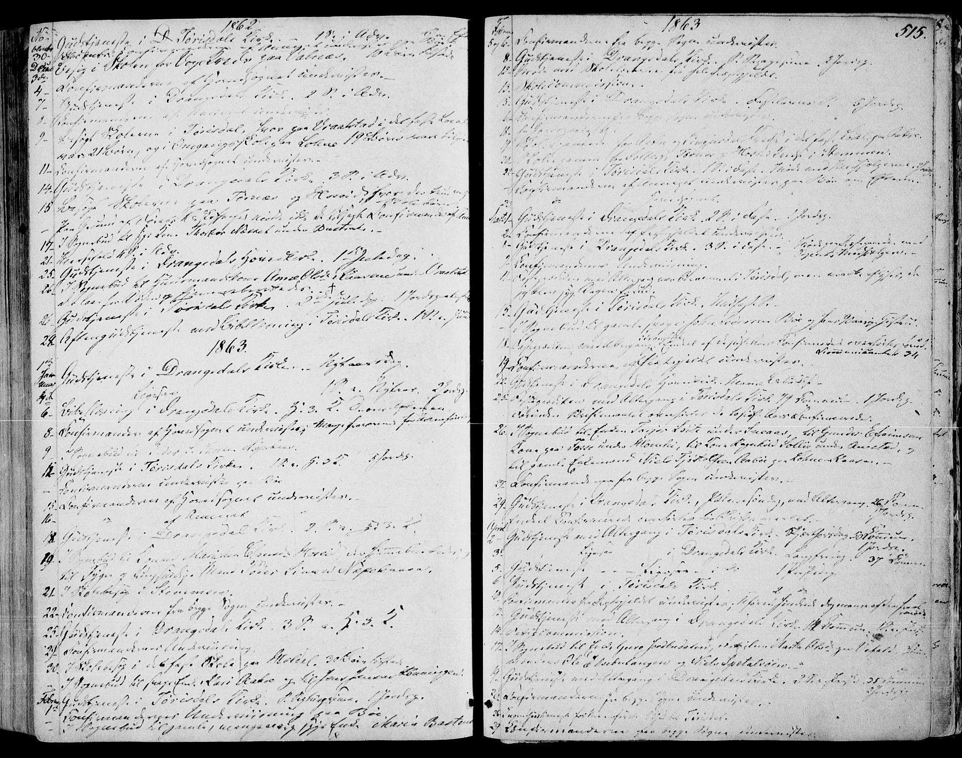 SAKO, Drangedal kirkebøker, F/Fa/L0008: Ministerialbok nr. 8, 1857-1871, s. 515