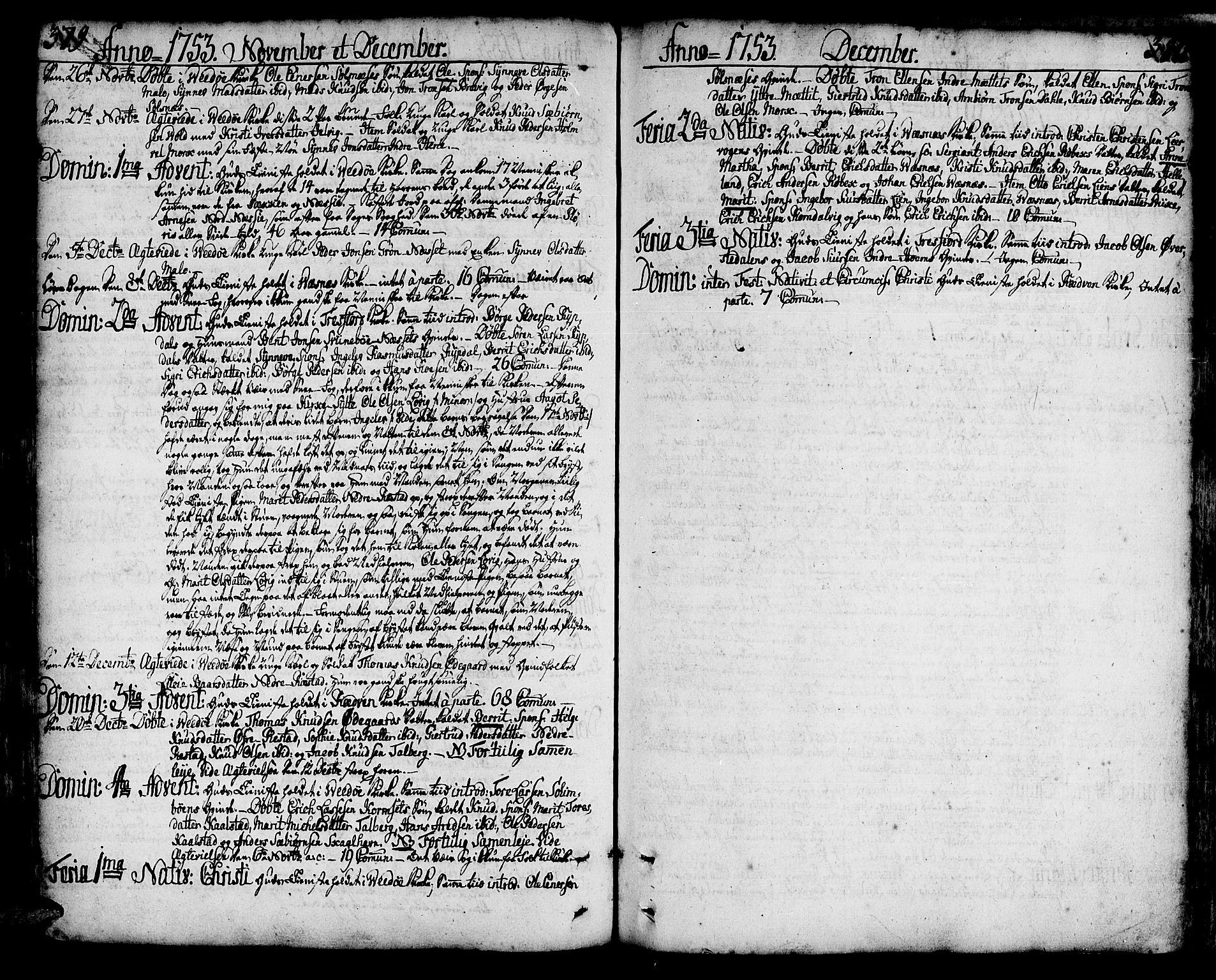 SAT, Ministerialprotokoller, klokkerbøker og fødselsregistre - Møre og Romsdal, 547/L0599: Ministerialbok nr. 547A01, 1721-1764, s. 379-380