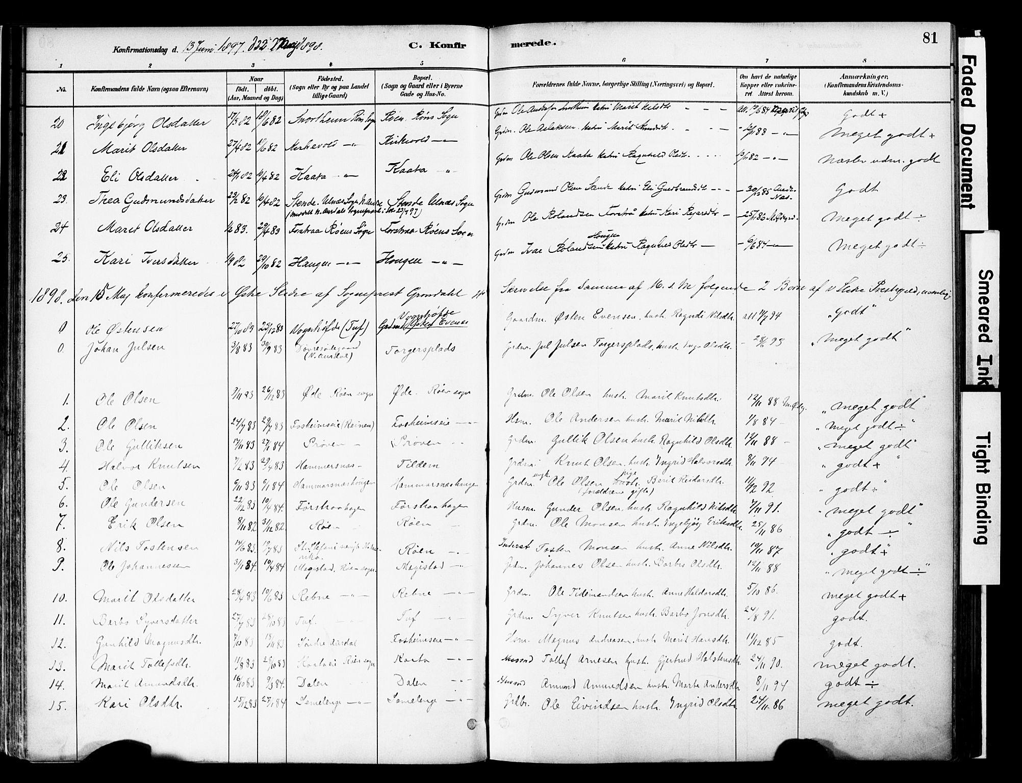 SAH, Vestre Slidre prestekontor, Ministerialbok nr. 6, 1881-1912, s. 81
