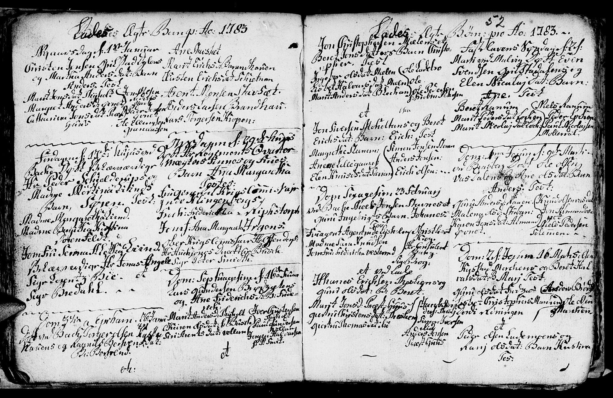 SAT, Ministerialprotokoller, klokkerbøker og fødselsregistre - Sør-Trøndelag, 606/L0305: Klokkerbok nr. 606C01, 1757-1819, s. 52